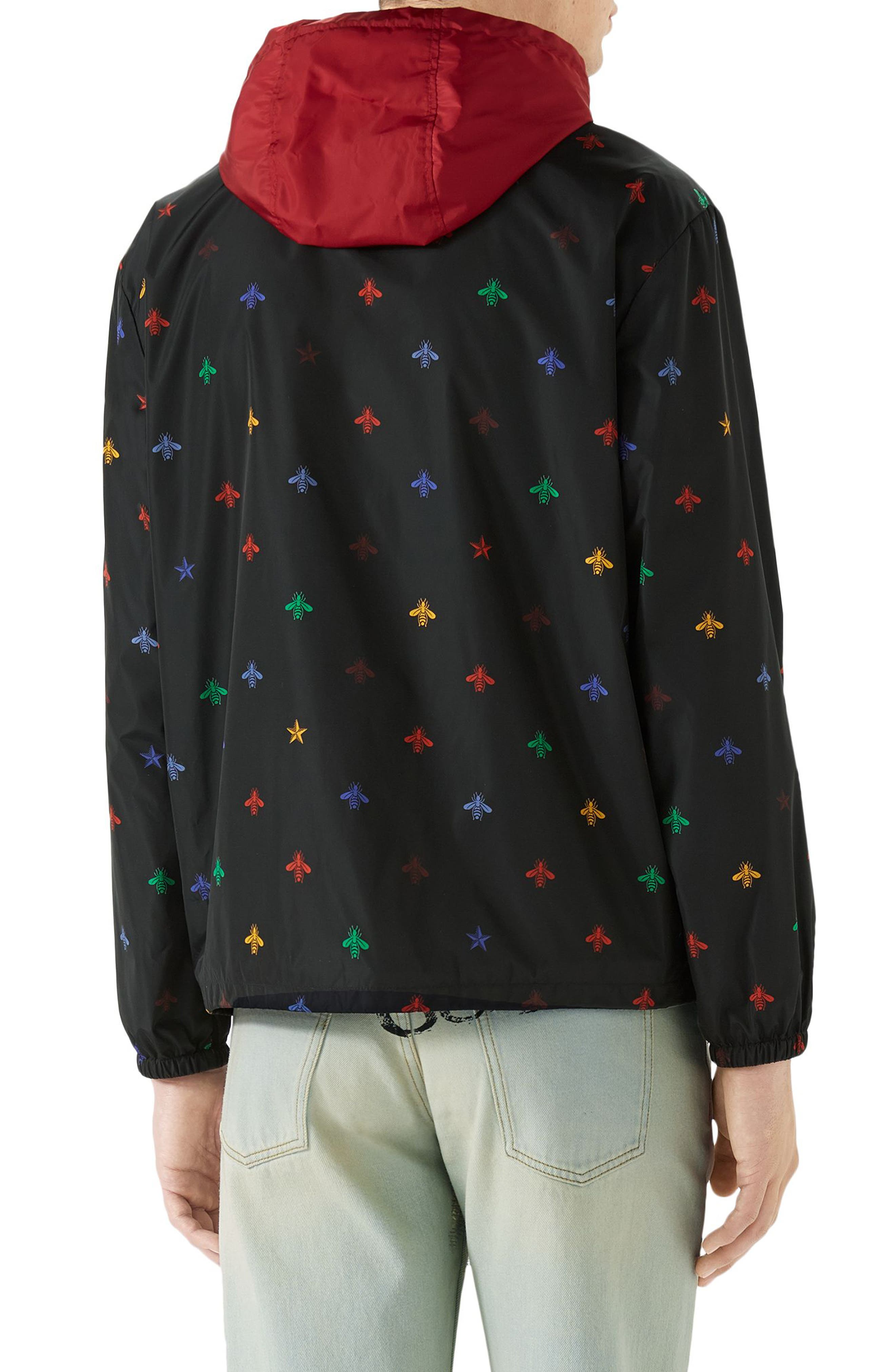 Alternate Image 2  - Gucci Bee Print Lightweight Jacket
