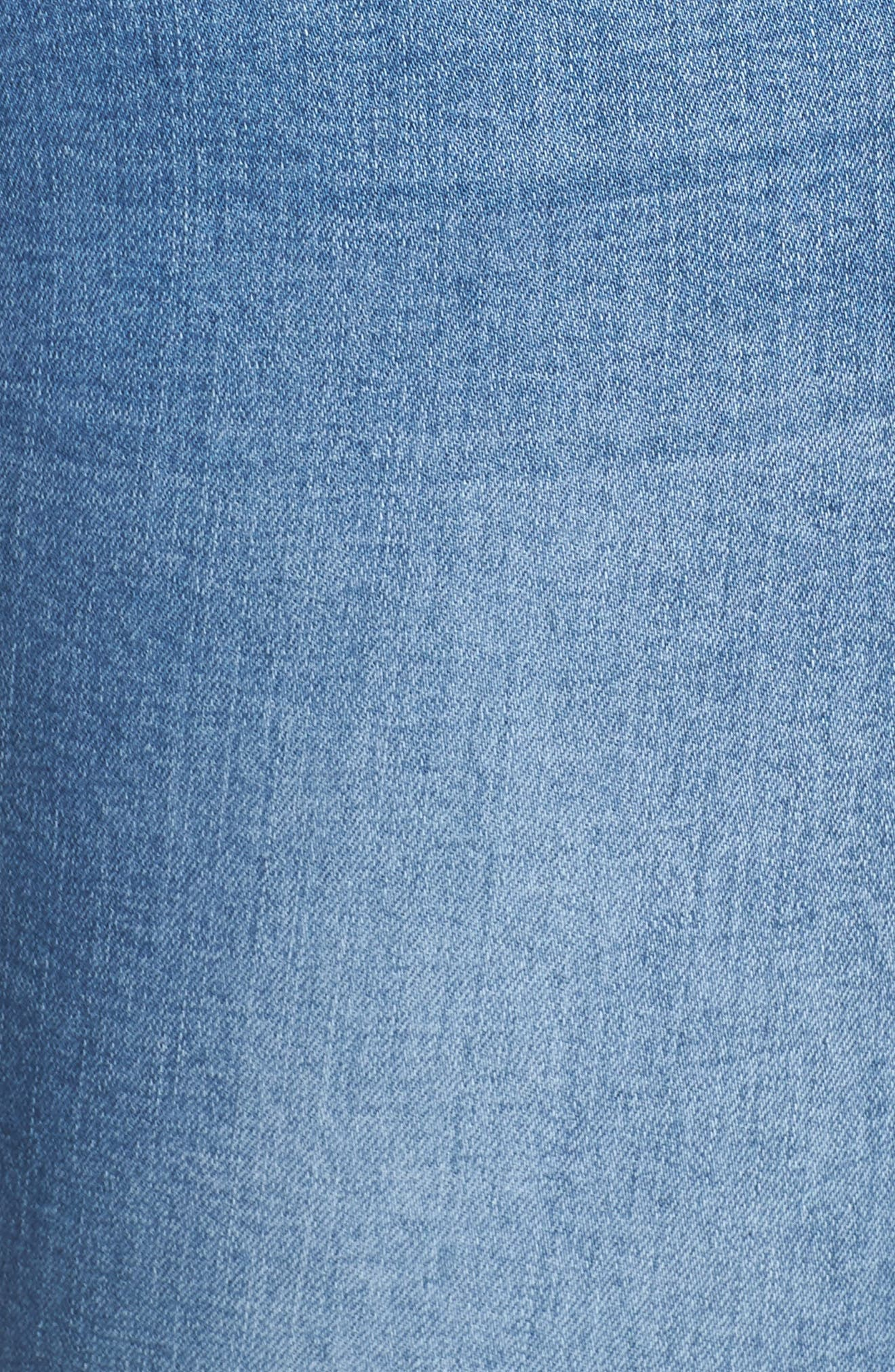 Summer Paradise Embroidered Stretch Skinny Jeans,                             Alternate thumbnail 6, color,                             Light Denim