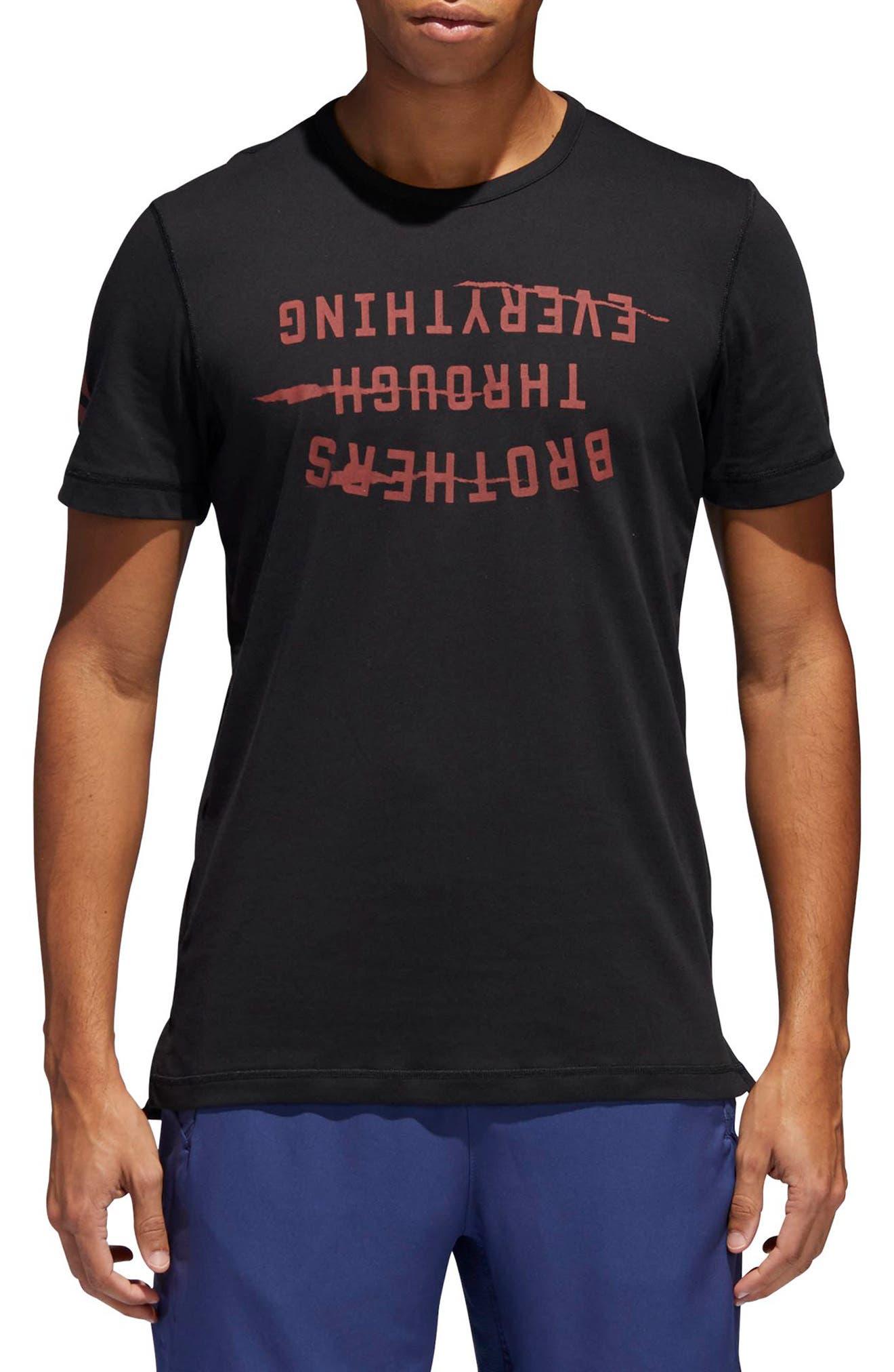 Harden Brand Slogan T-Shirt,                             Main thumbnail 1, color,                             Black