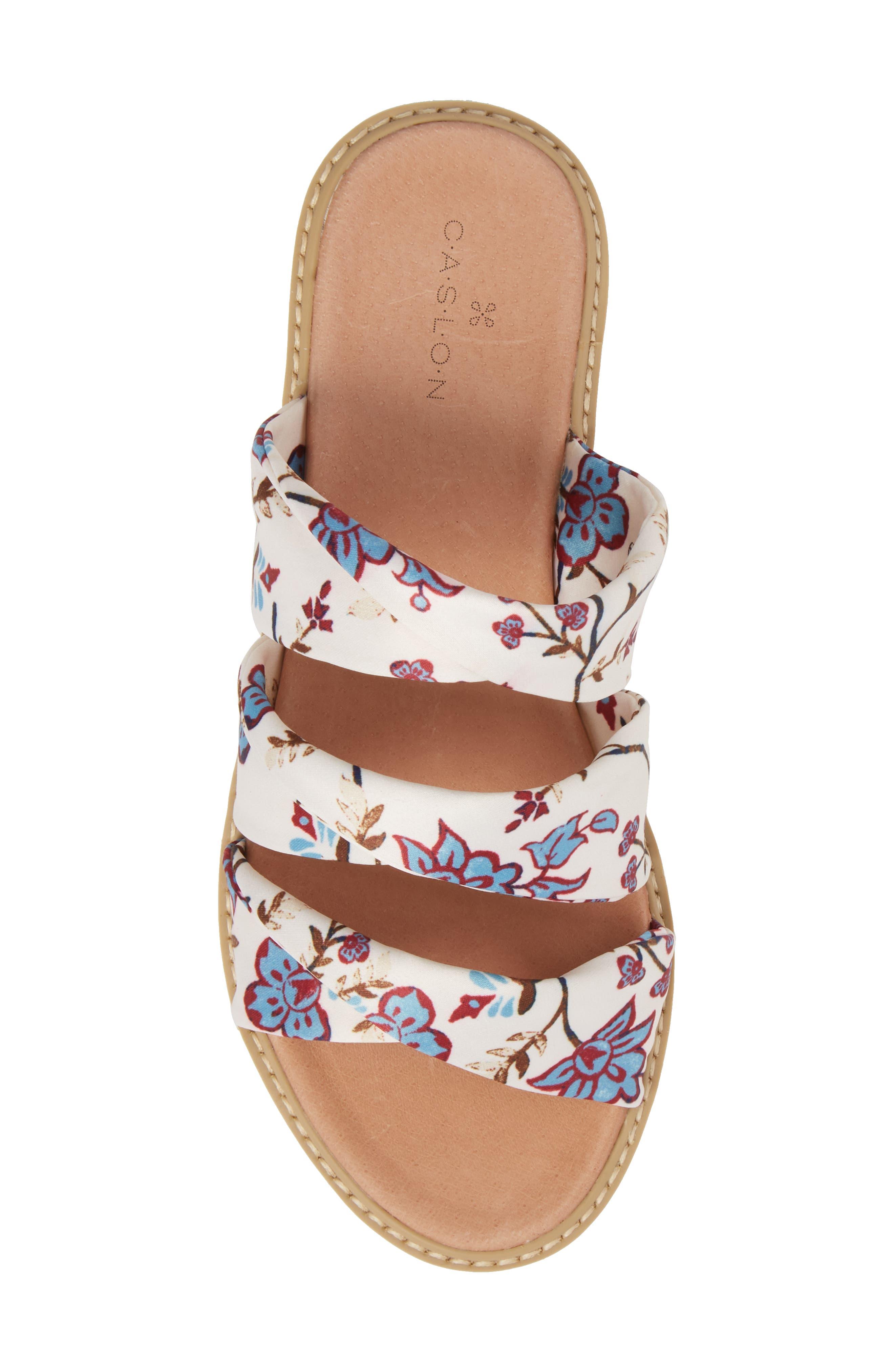 Cooper Slide Sandal,                             Alternate thumbnail 5, color,                             White Agrestic Fabric