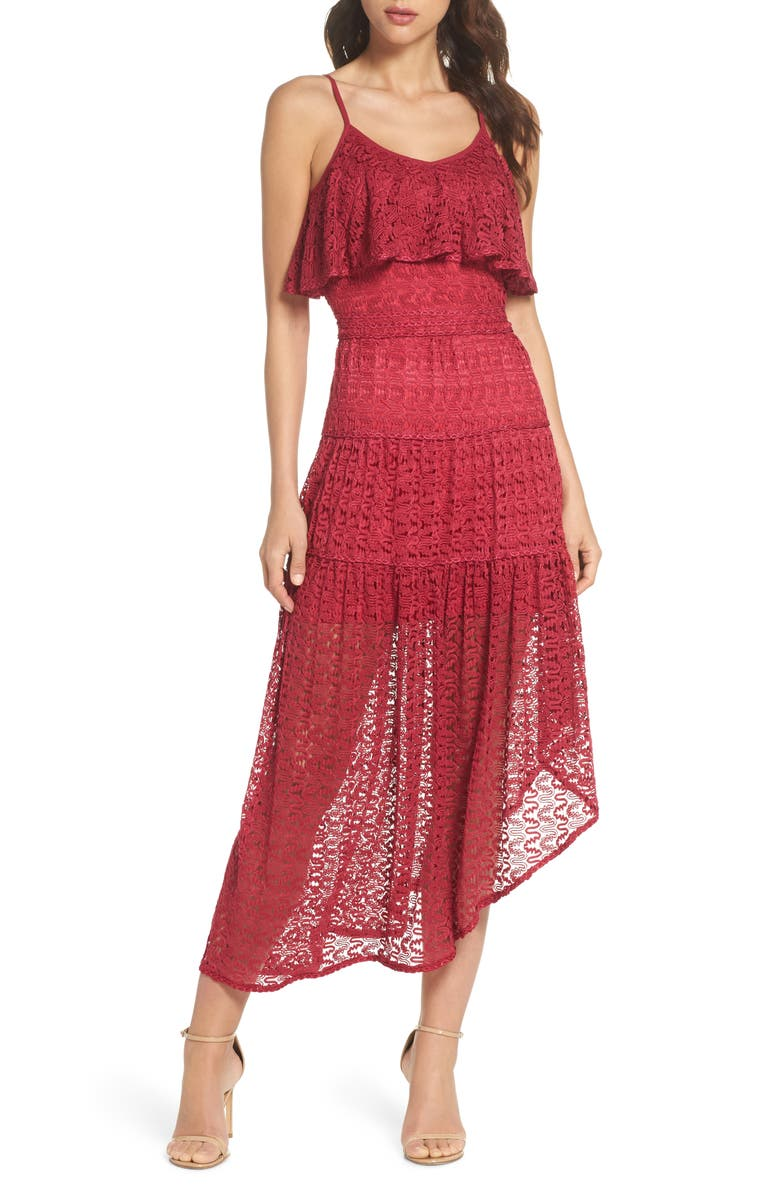 Rayna Asymmetrical Lace Dress