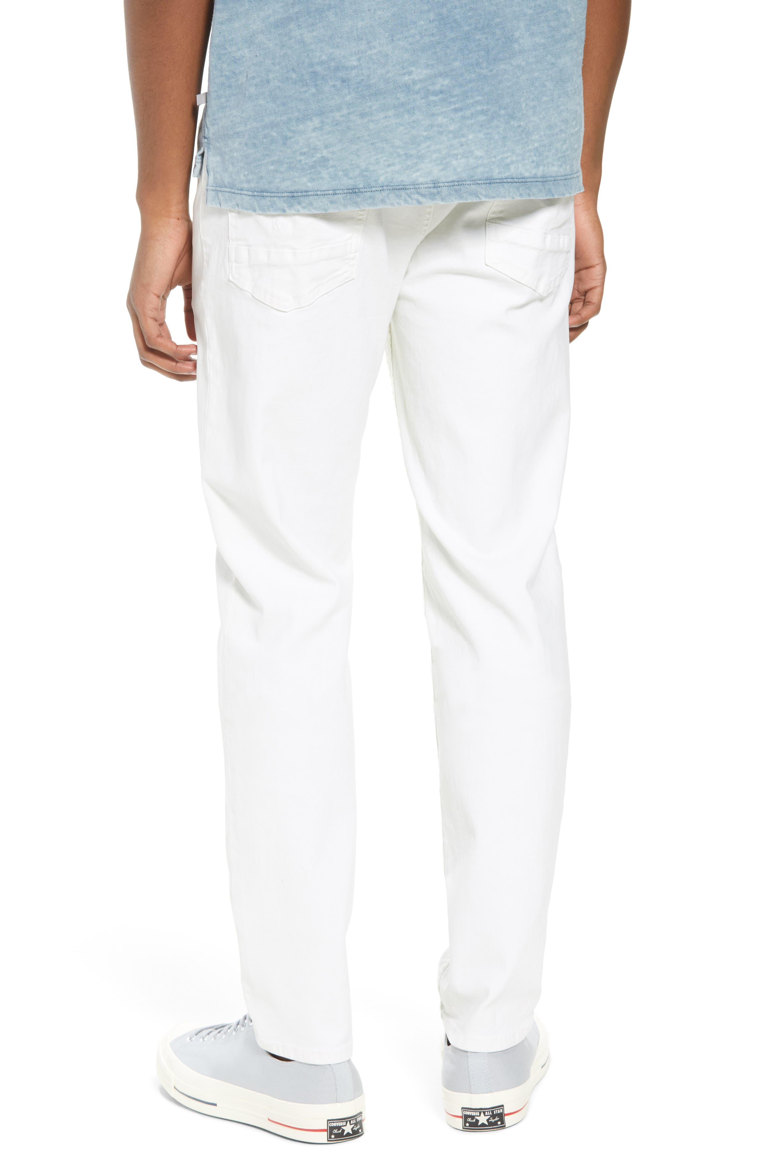 Sartor Slouchy Skinny Fit Jeans,                             Alternate thumbnail 2, color,                             Off White