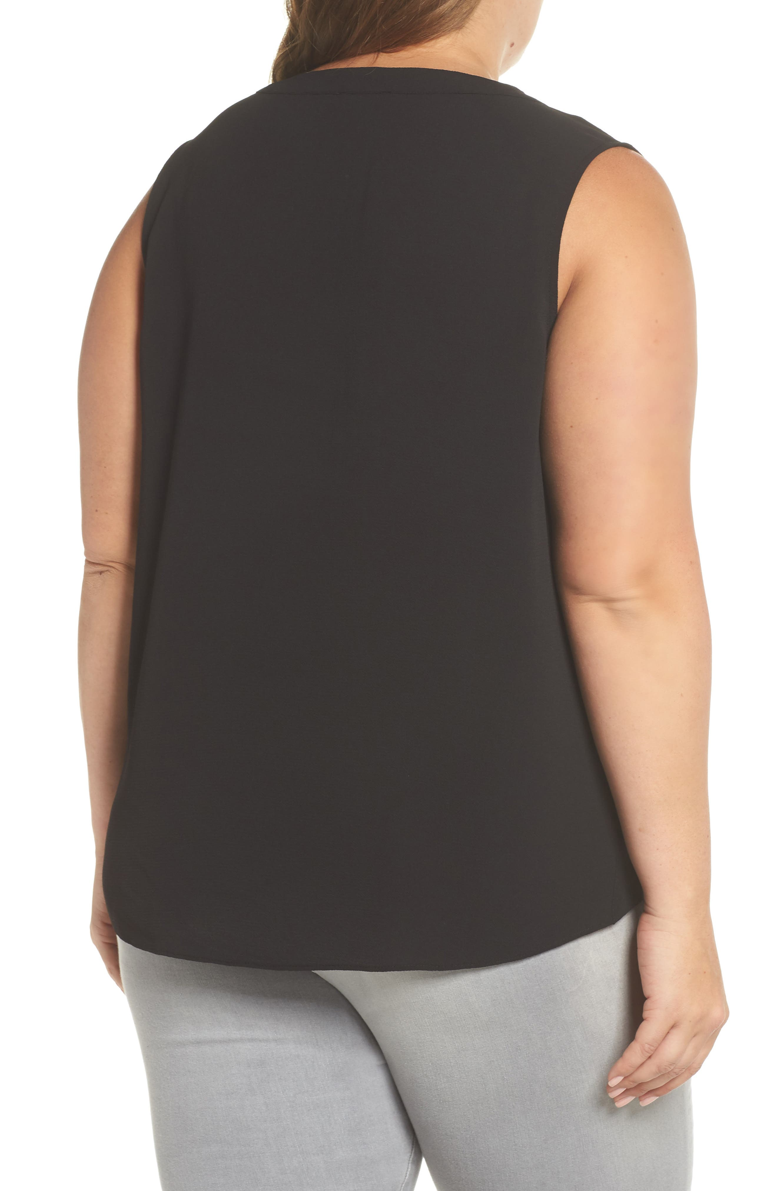Embroidered Tank,                             Alternate thumbnail 2, color,                             Rich Black