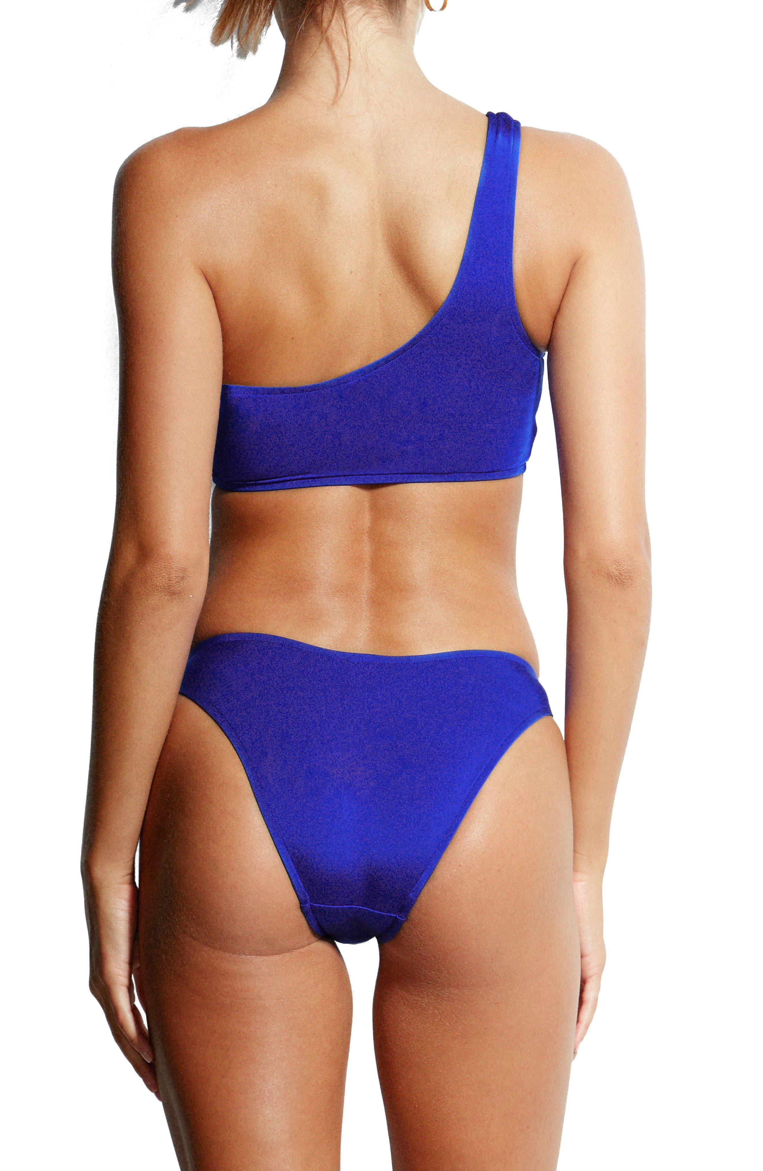 Pheonix High Leg Bikini Bottoms,                             Alternate thumbnail 4, color,                             Blue Ray