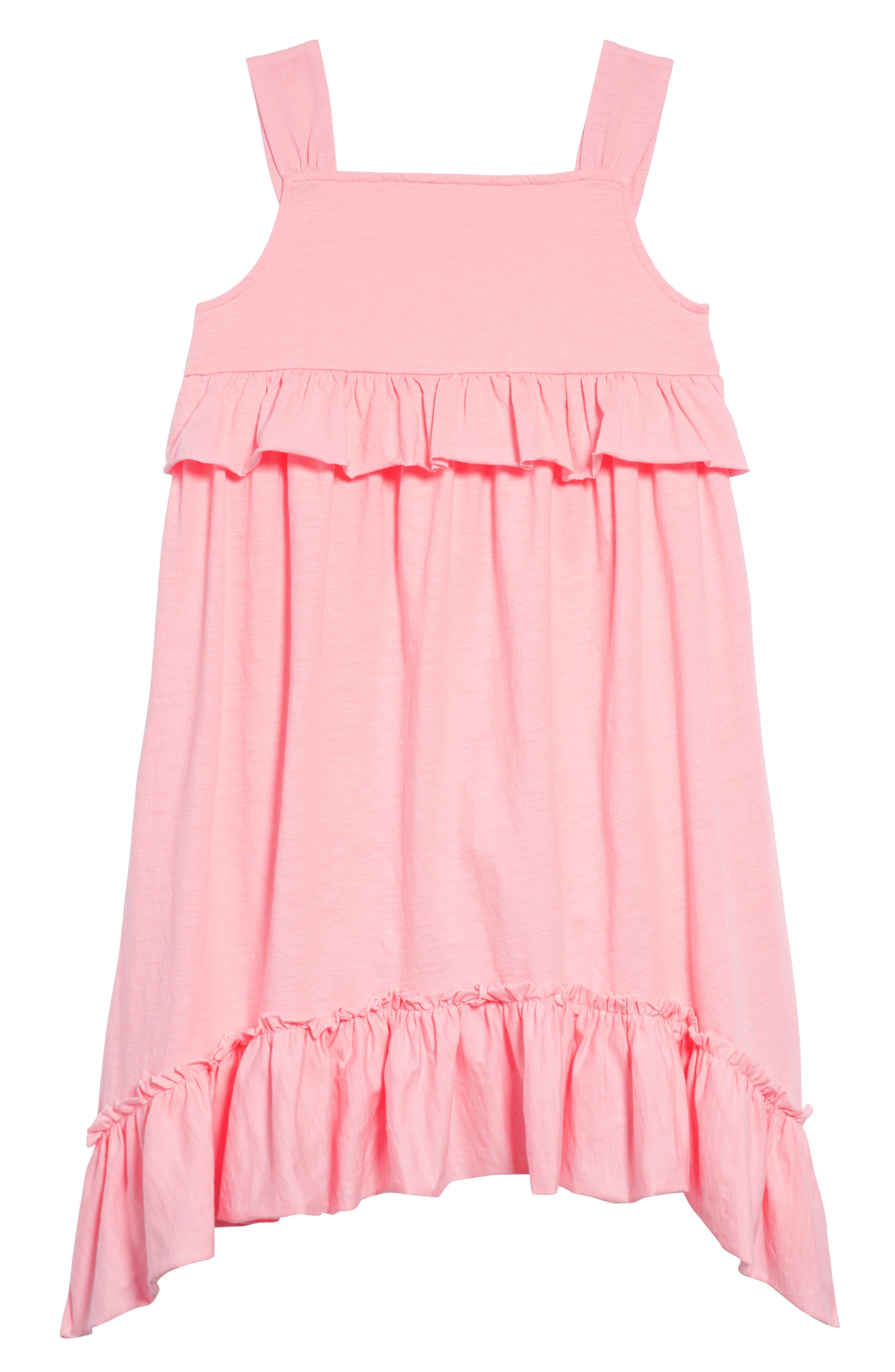 Mimi Ruffle Dress,                             Main thumbnail 1, color,                             Neon Petal Pk-5038