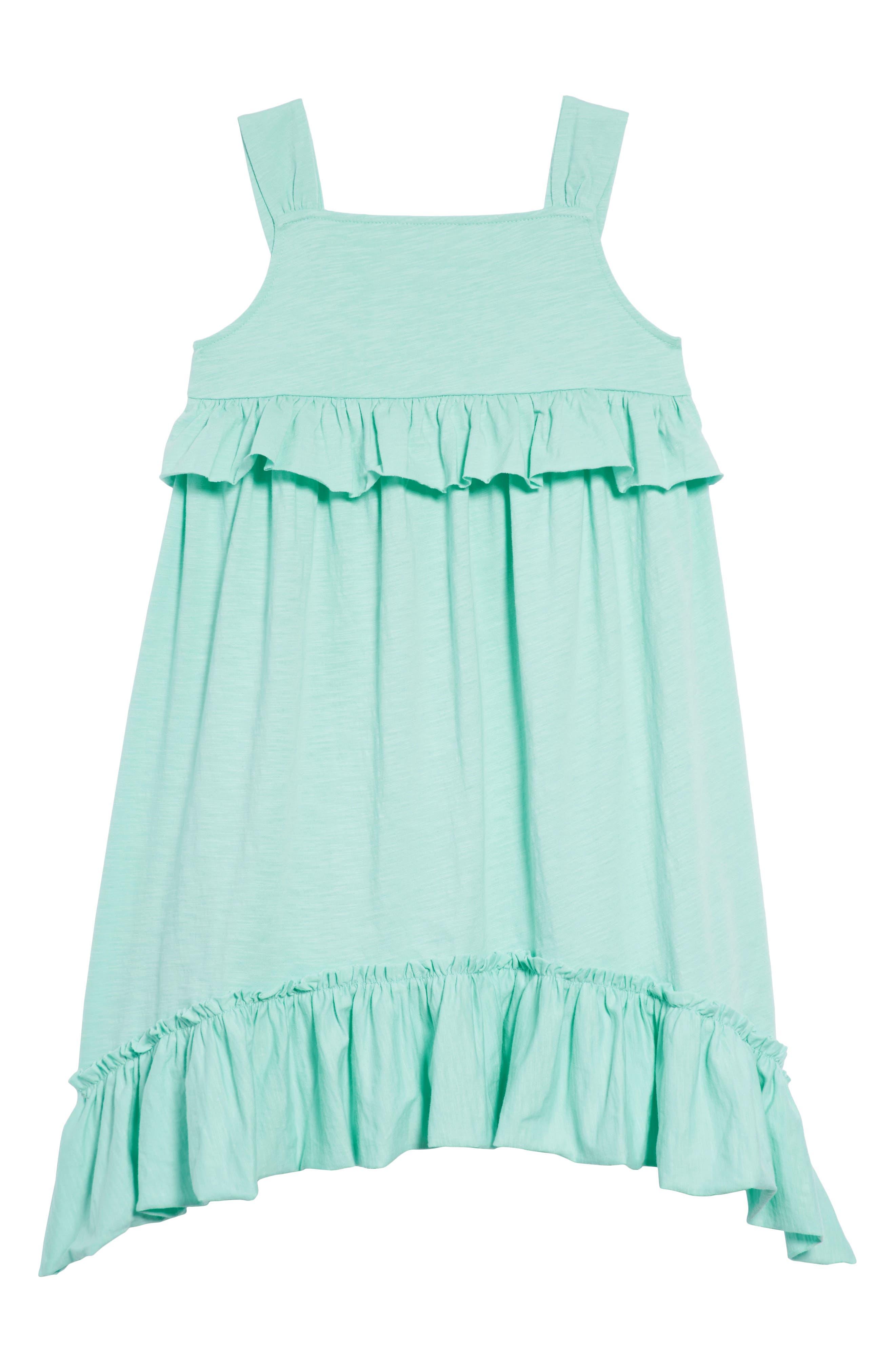 Mimi Ruffle Dress,                         Main,                         color, Sunwashed Aqua Gr5839