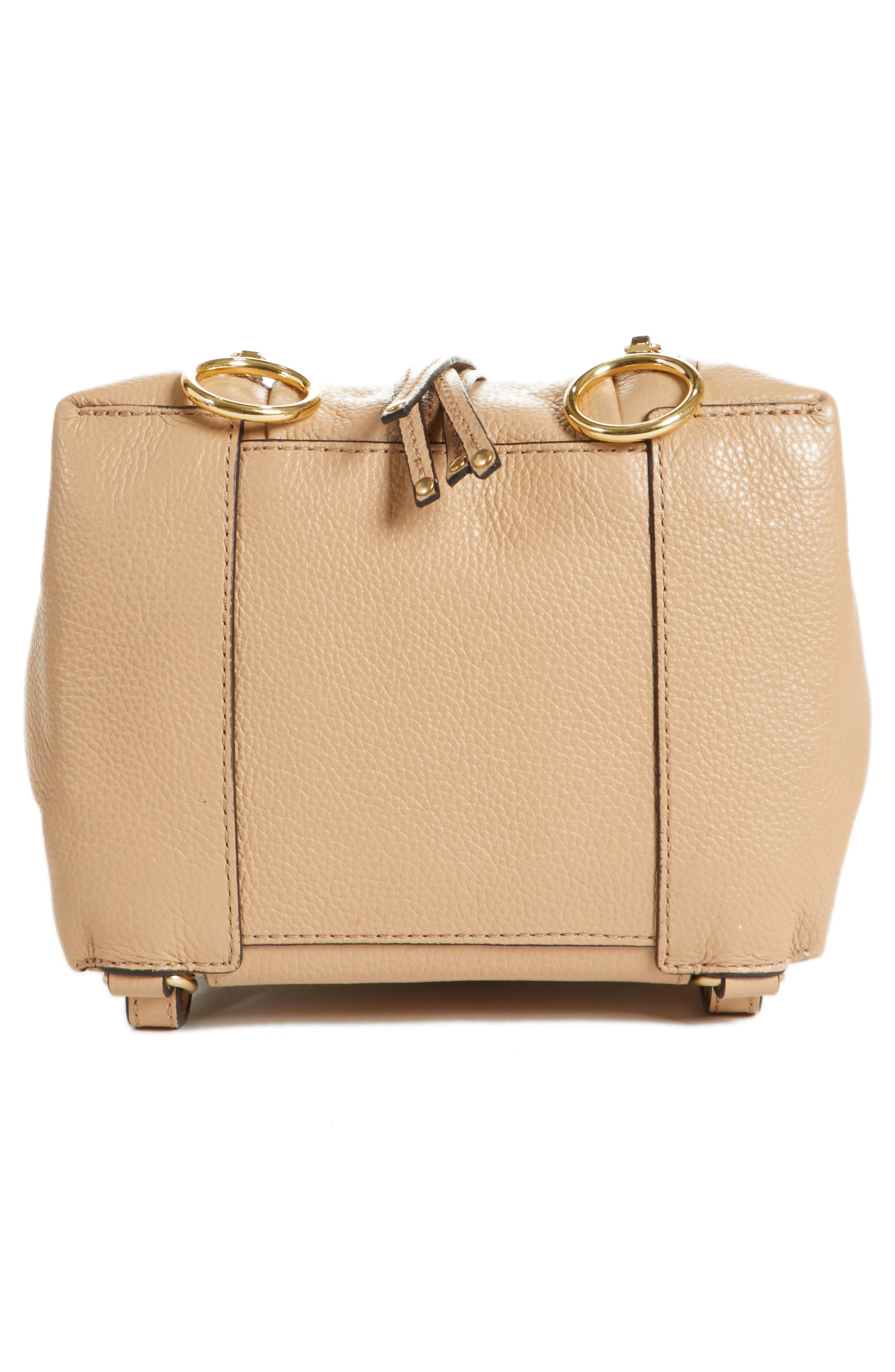 Small Olga Leather Backpack,                             Alternate thumbnail 6, color,                             Blush Nude