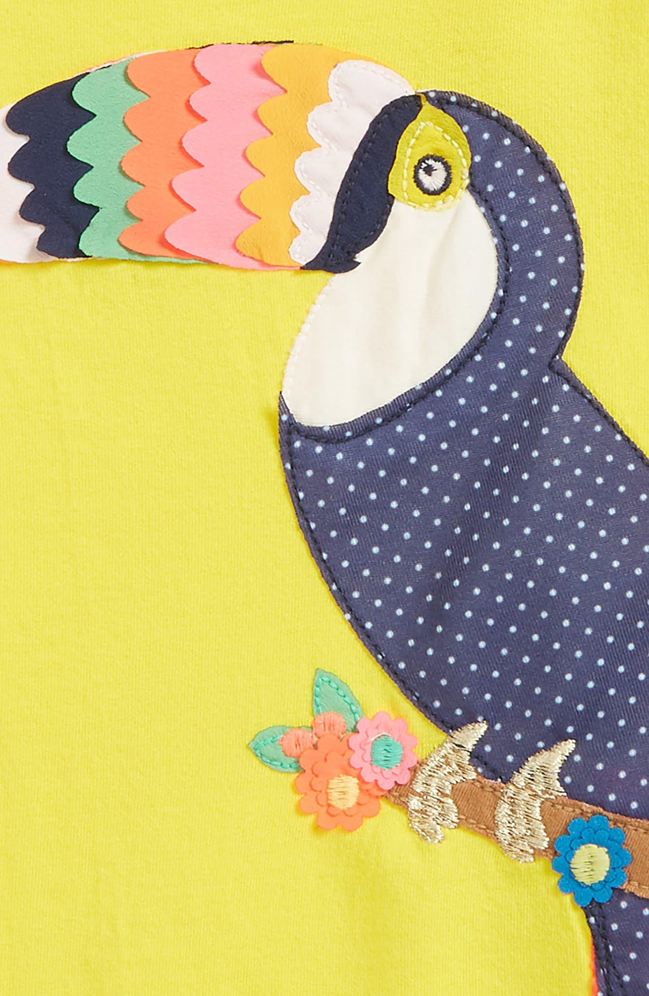 Fluttery Animal Tee,                             Alternate thumbnail 2, color,                             Sunshine Yellow Touc