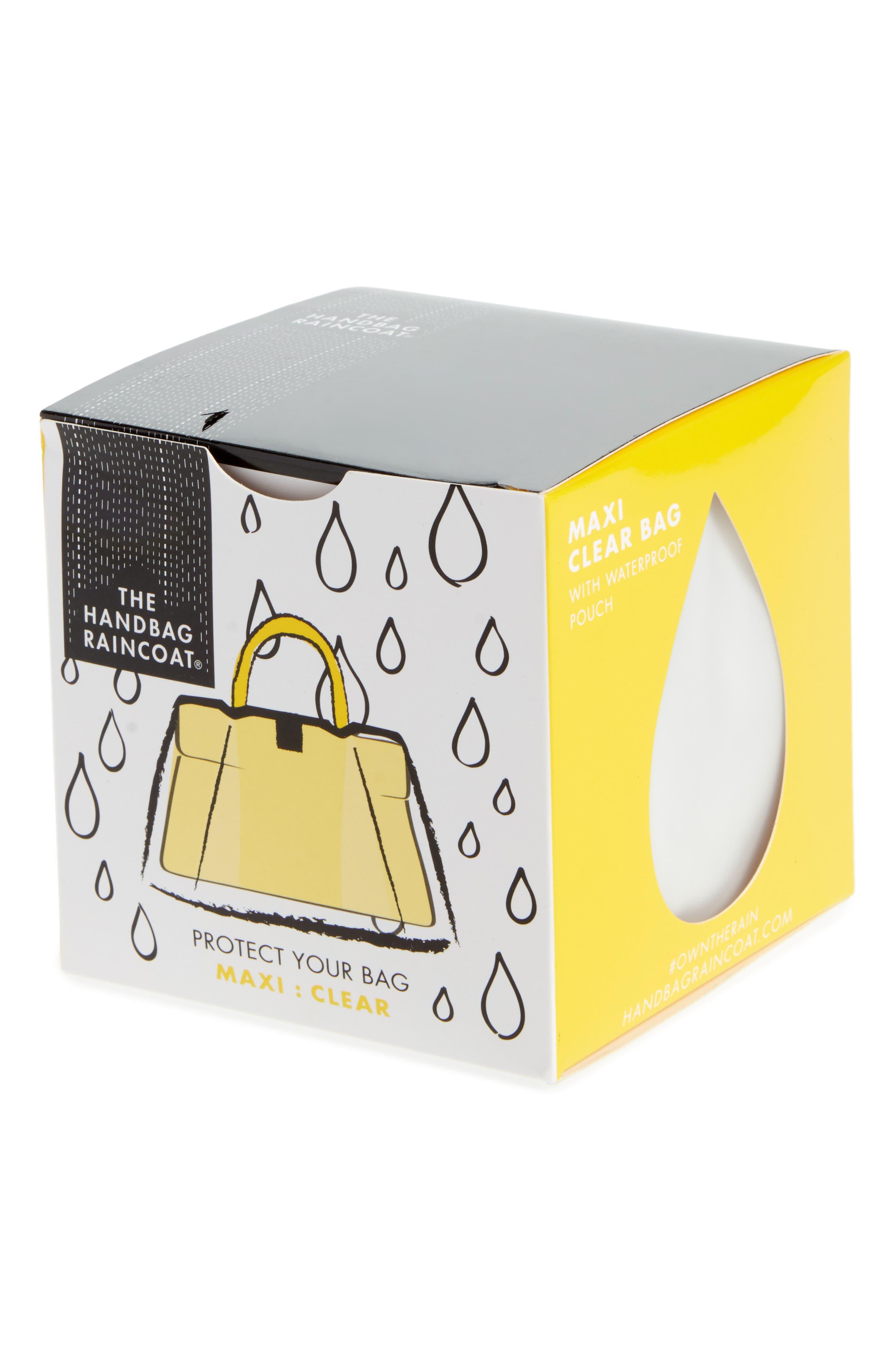 Maxi Clear Handbag Protector,                             Main thumbnail 1, color,                             Clear/ Black