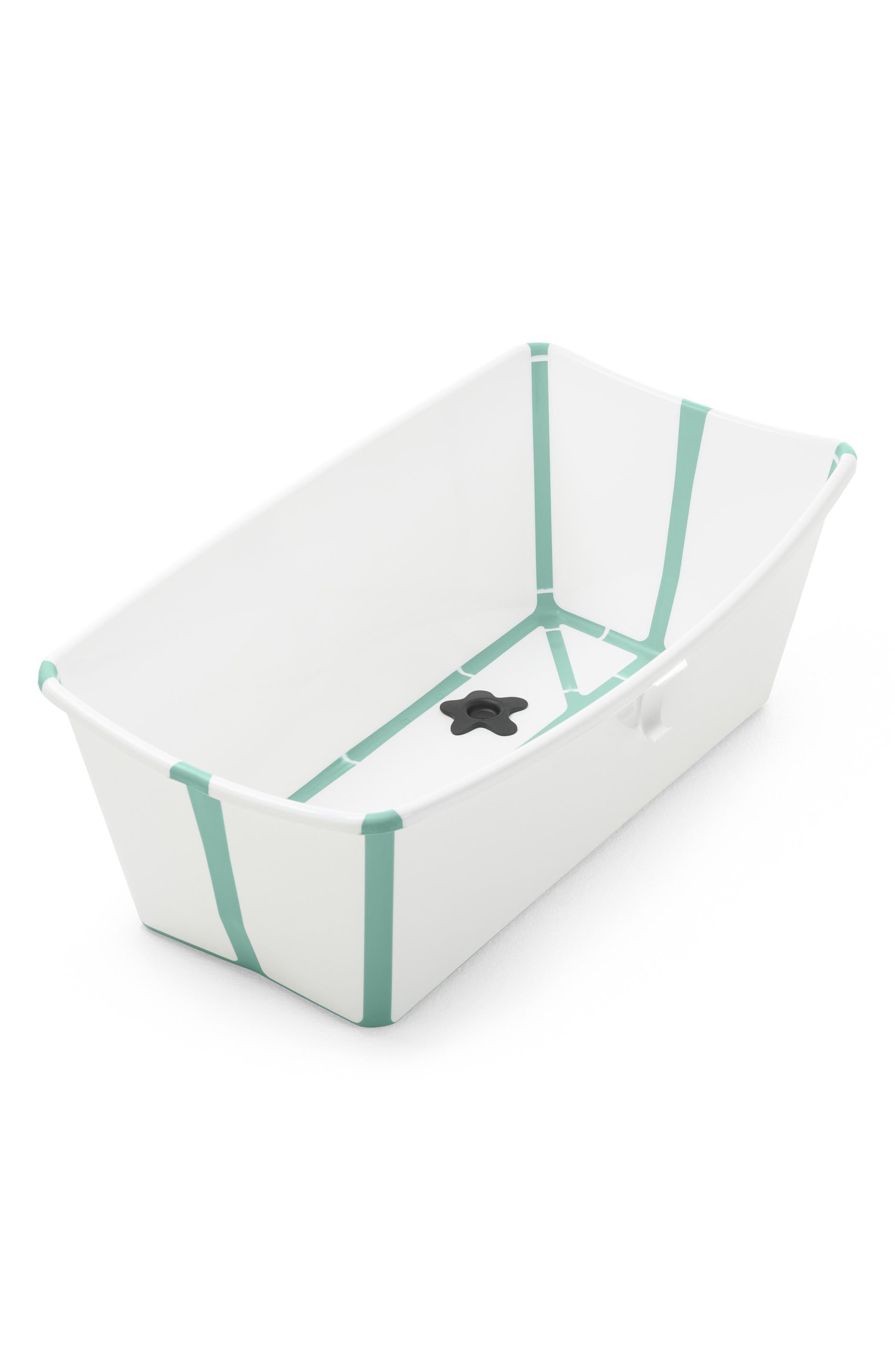 'Flexi Bath<sup>®</sup>' Foldable Baby Bathtub,                             Main thumbnail 1, color,                             Aqua