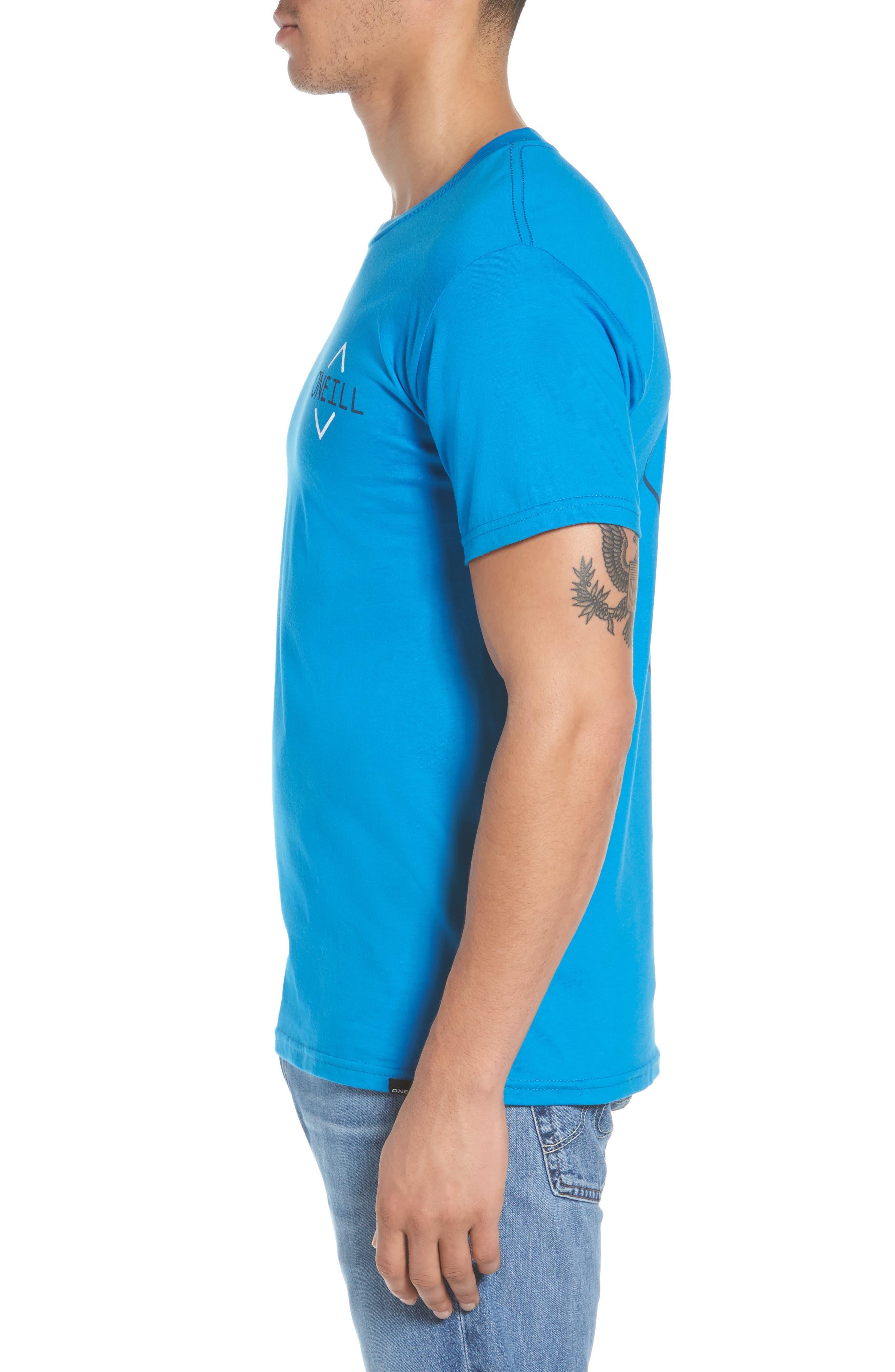 Fisher Graphic T-Shirt,                             Alternate thumbnail 3, color,                             Brilliant Blue