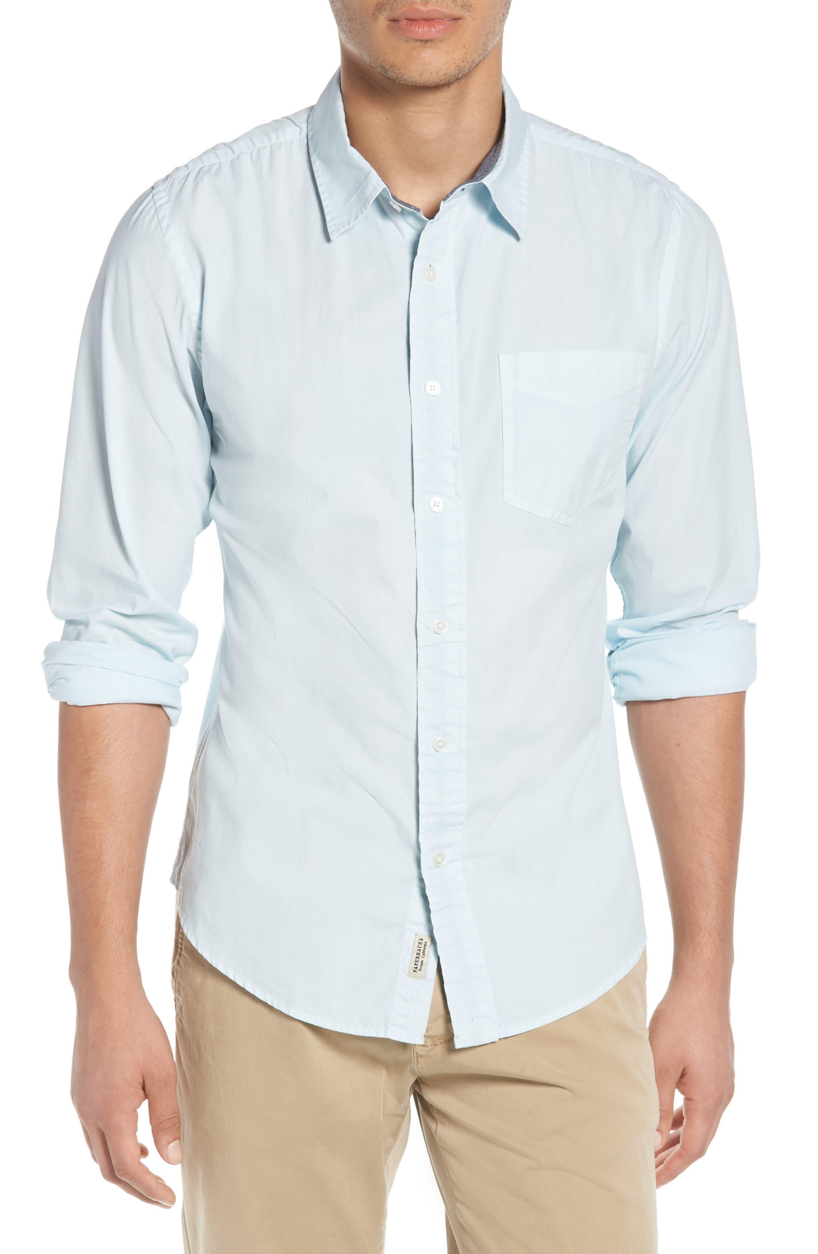 'Naples' Woven Shirt,                             Main thumbnail 1, color,                             Waterfall