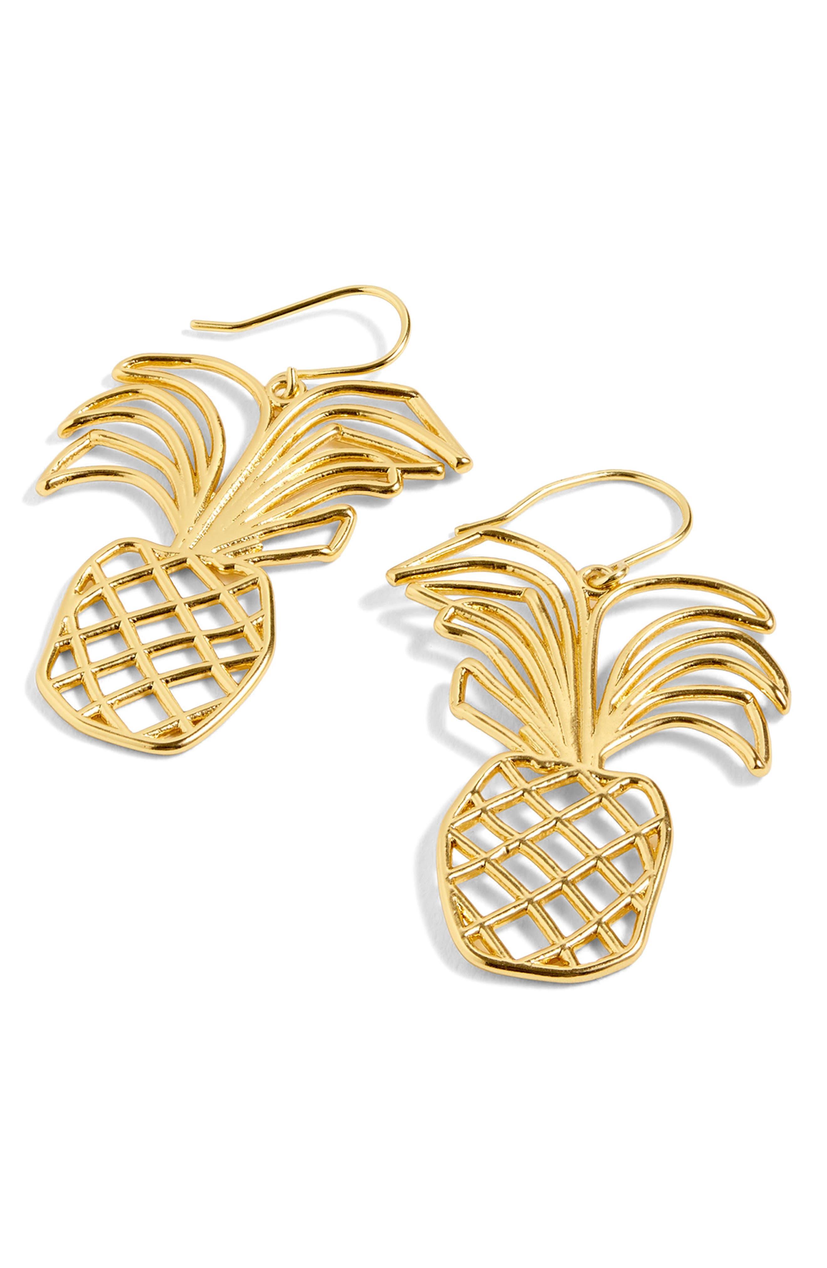 J.Crew Pineapple Wire Drop Earrings