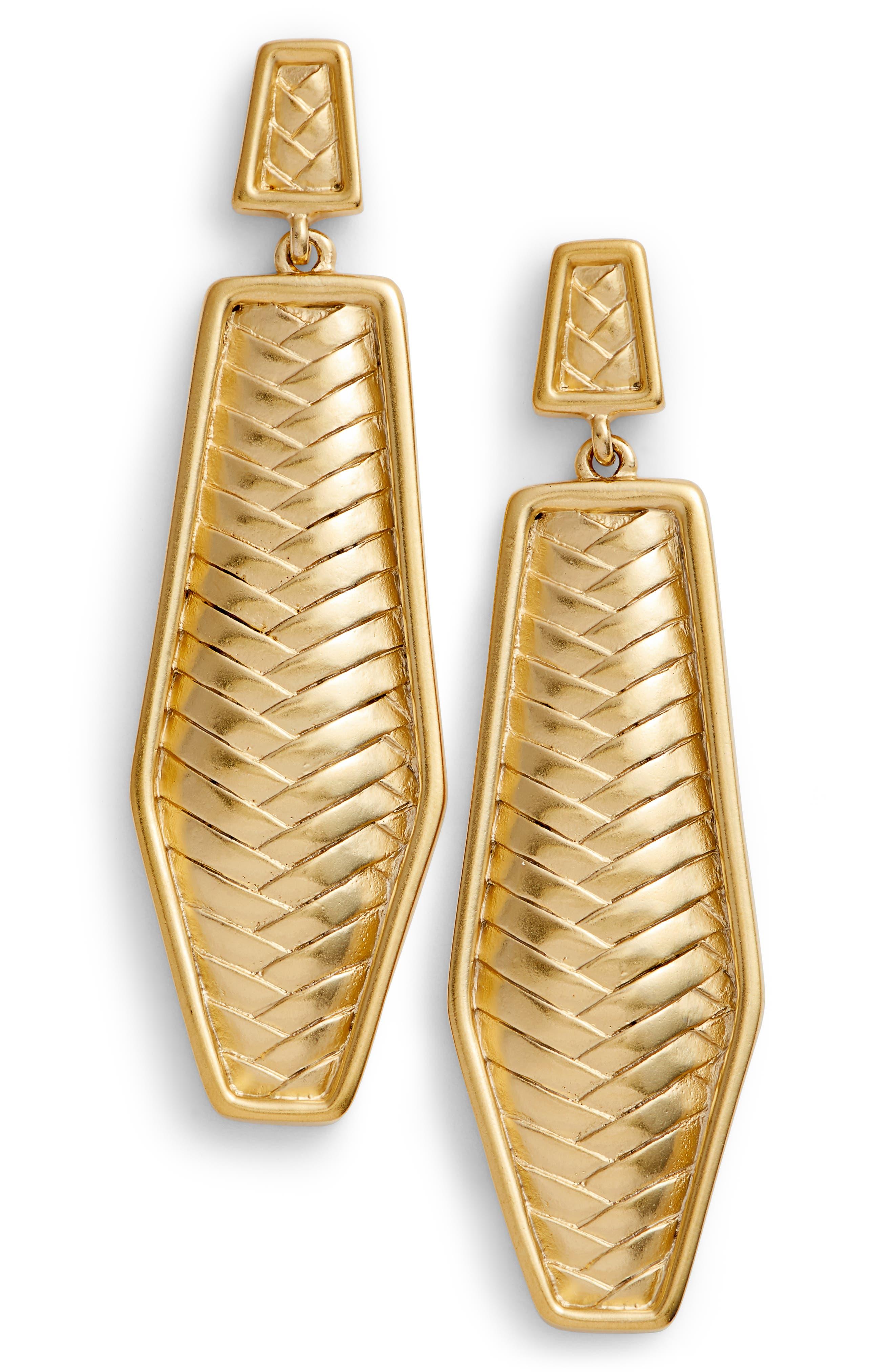 Drop Earrings,                             Main thumbnail 1, color,                             Gold