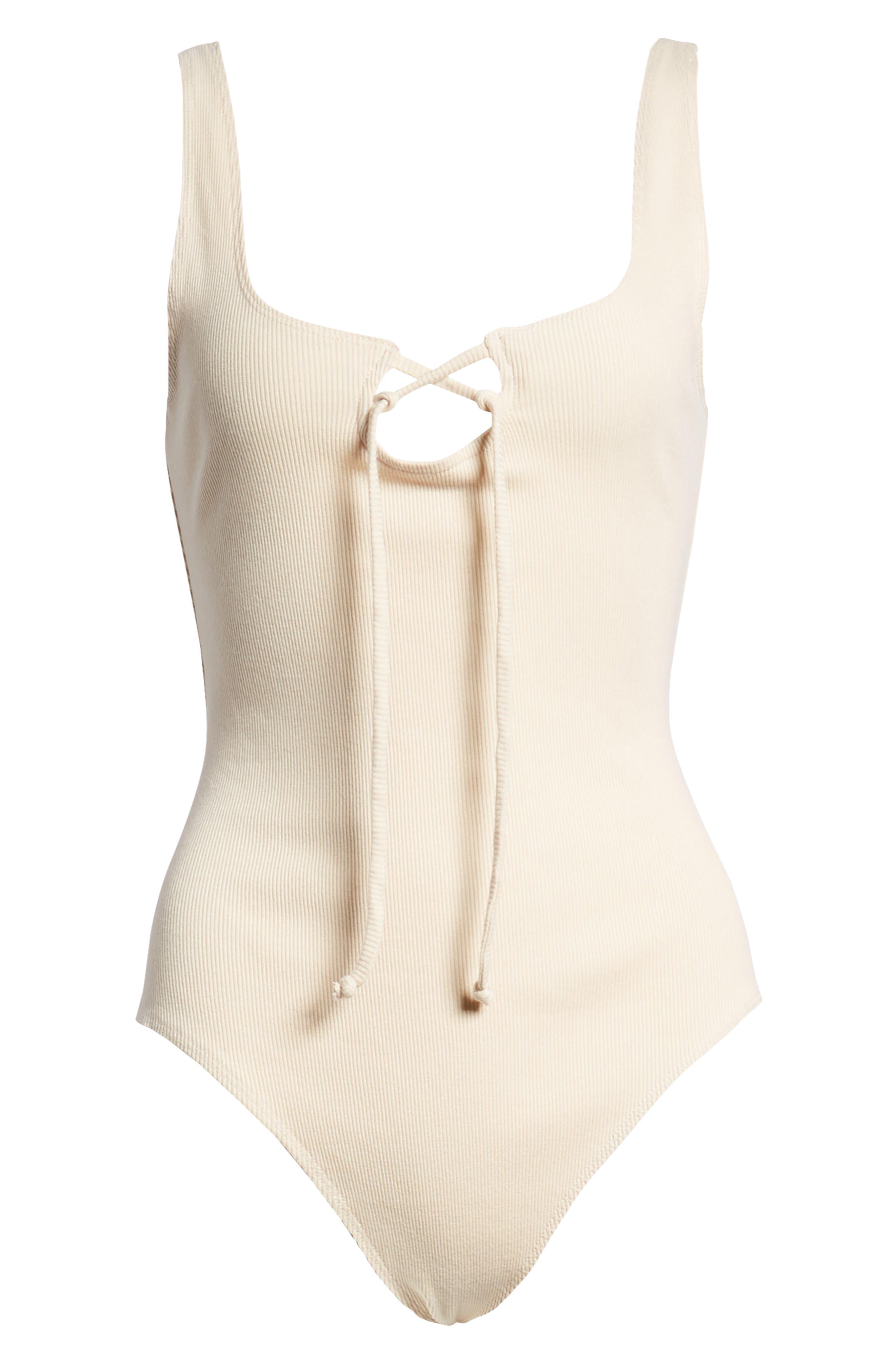 Tangled Up Rib Bodysuit,                             Alternate thumbnail 6, color,                             Taupe