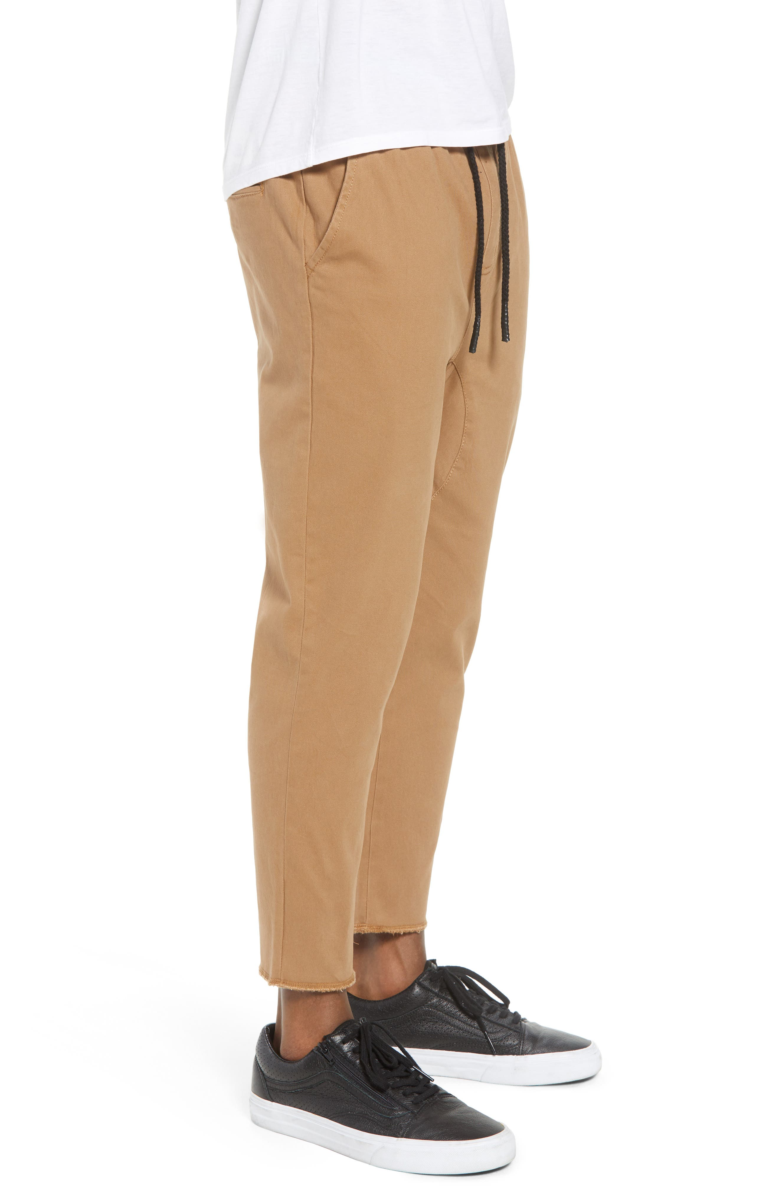 Vacation Slim Fit Crop Pants,                             Alternate thumbnail 3, color,                             Khaki