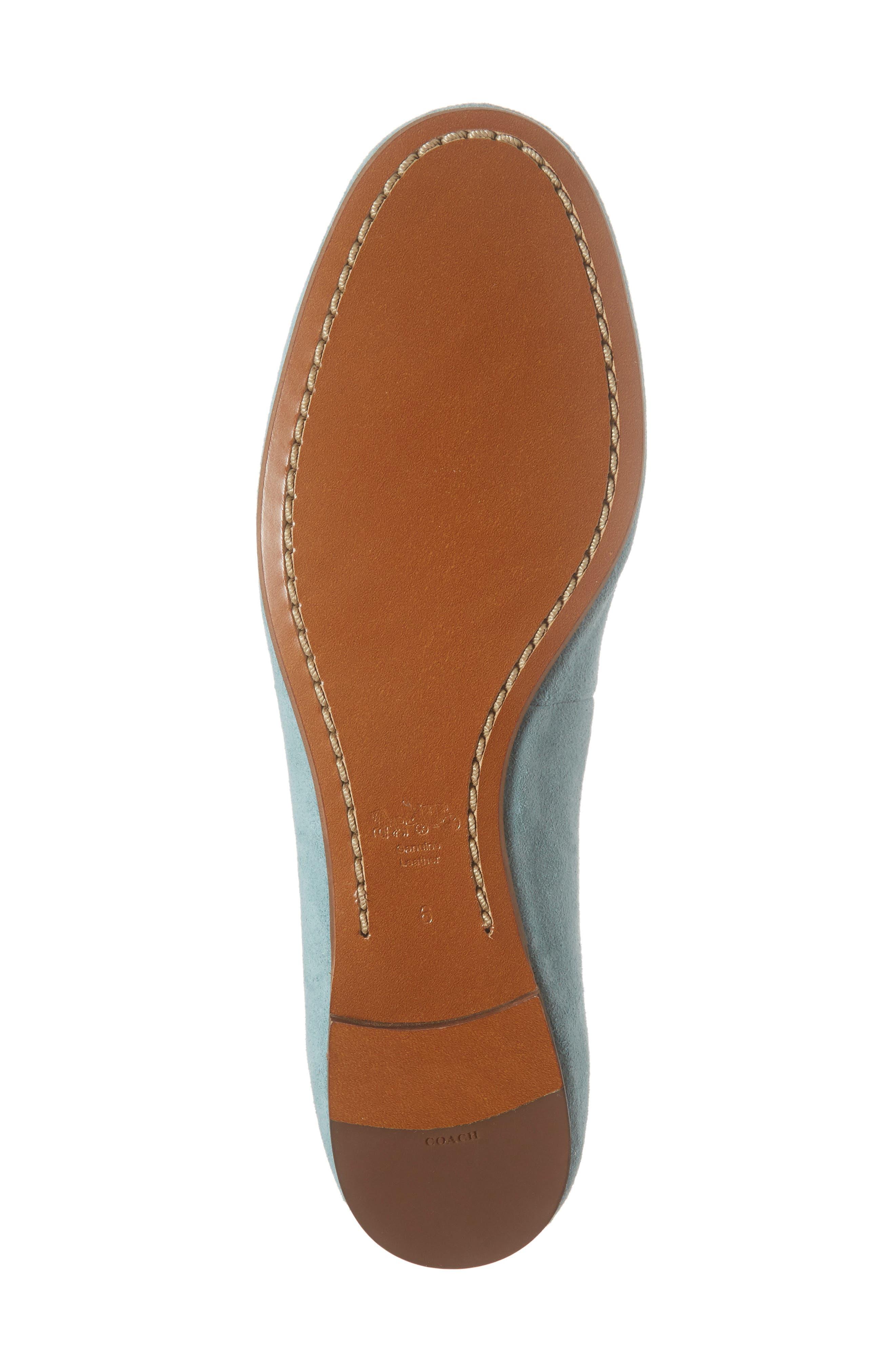 Lola Ballet Flat,                             Alternate thumbnail 6, color,                             Marine Leather
