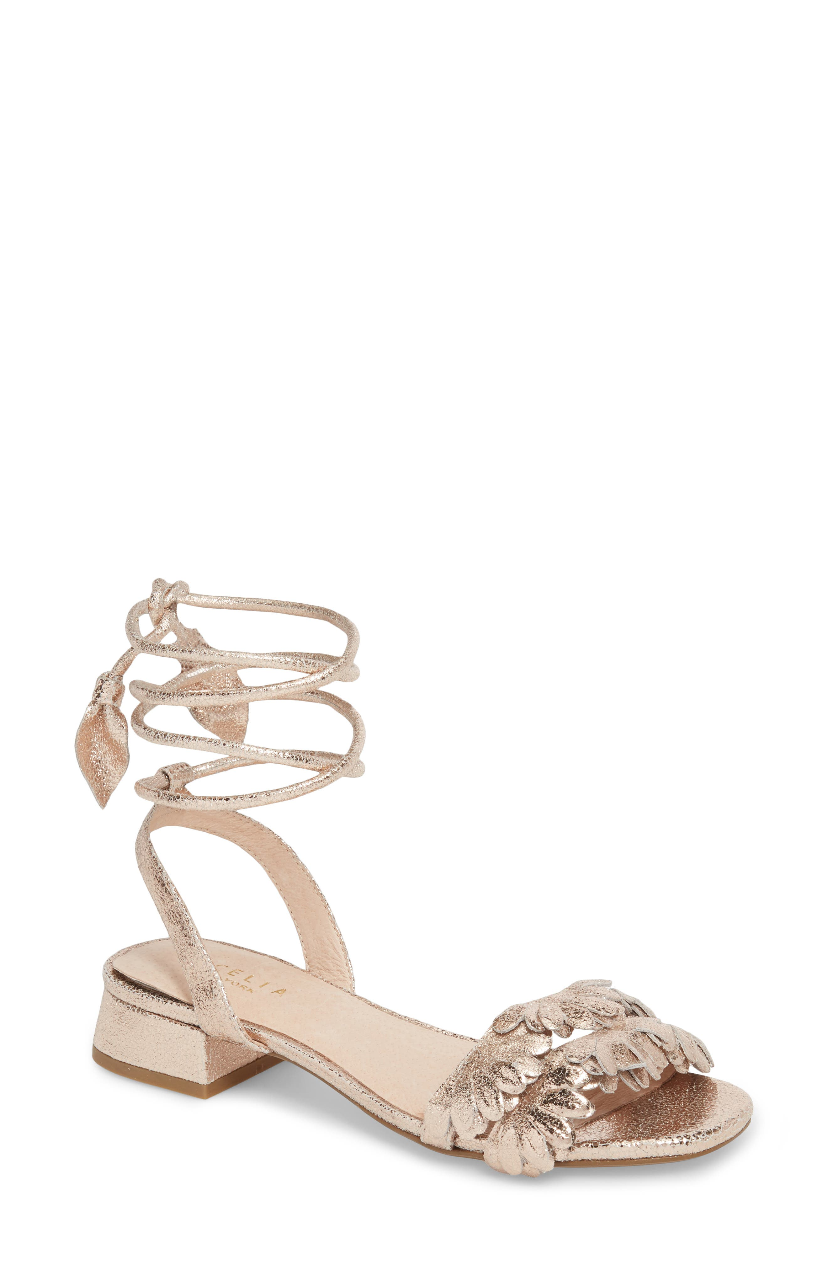 CECELIA Women's Fleur Ankle Wrap Sandal 6EBdBojSMM