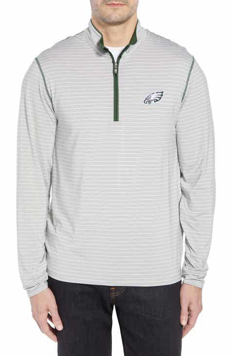 Cutter   Buck Meridian - Philadelphia Eagles Regular Fit Half Zip Pullover 336a965532c5
