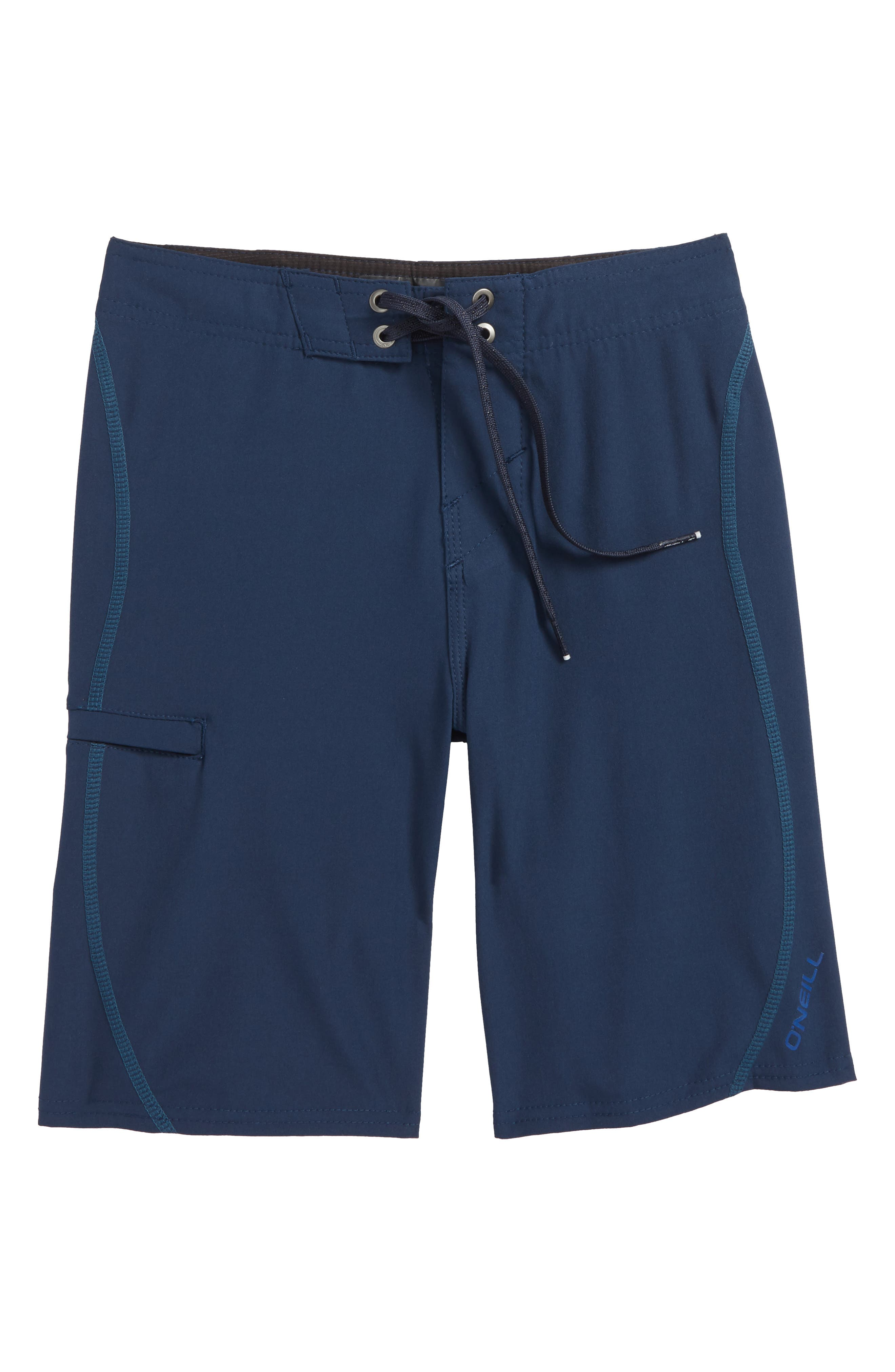 Hyperfreak S-Seam Stretch Print Board Shorts,                         Main,                         color, Navy