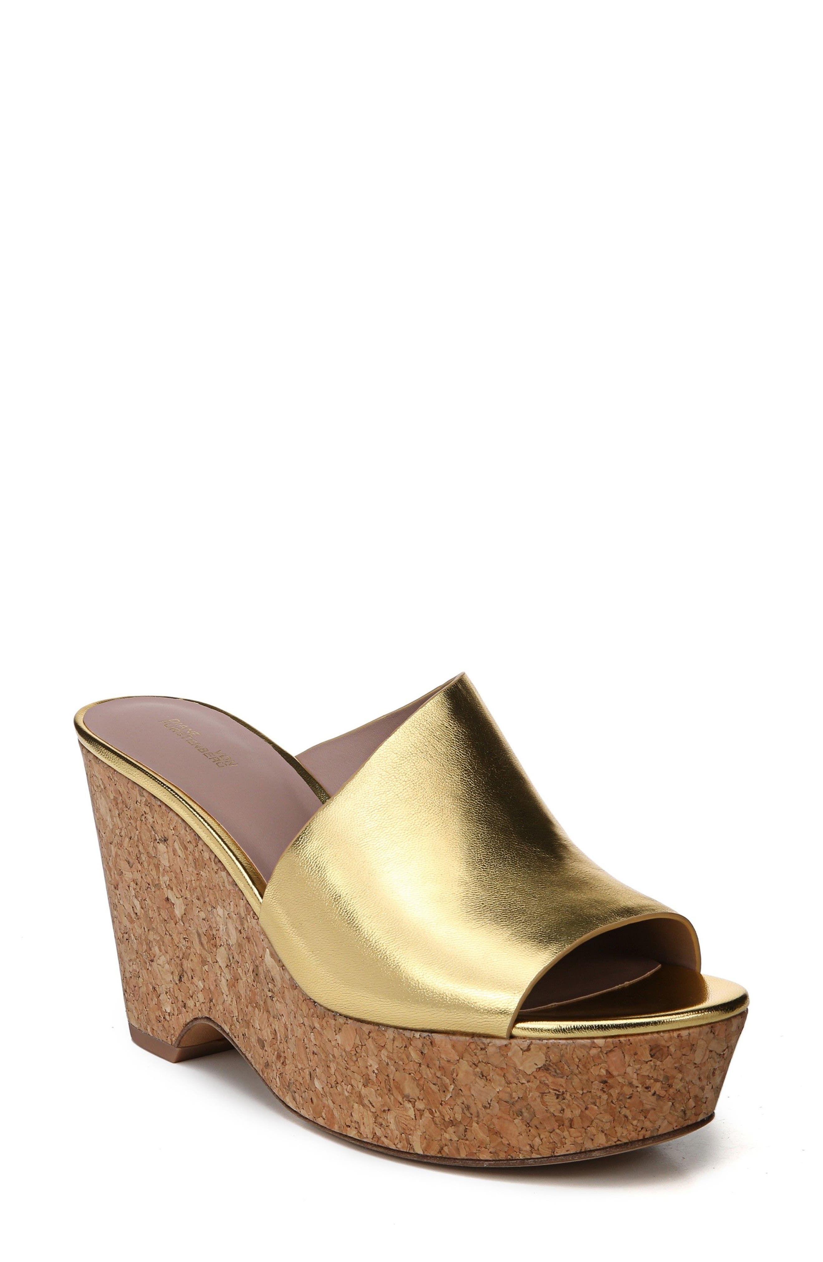 Bonnie Wedge Slide Sandal,                         Main,                         color, Gold