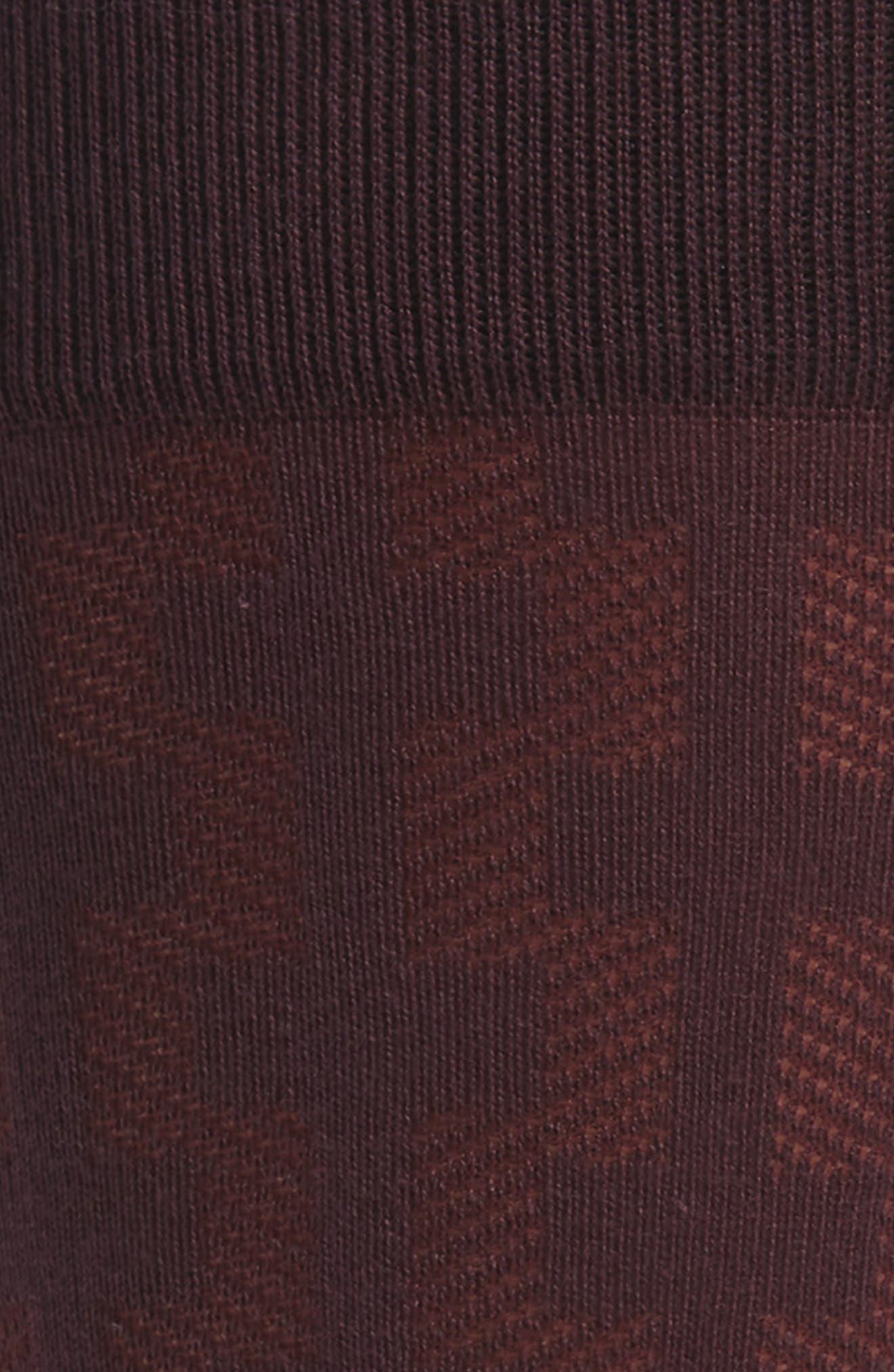 Geometric Socks,                             Alternate thumbnail 2, color,                             Burgundy Fig