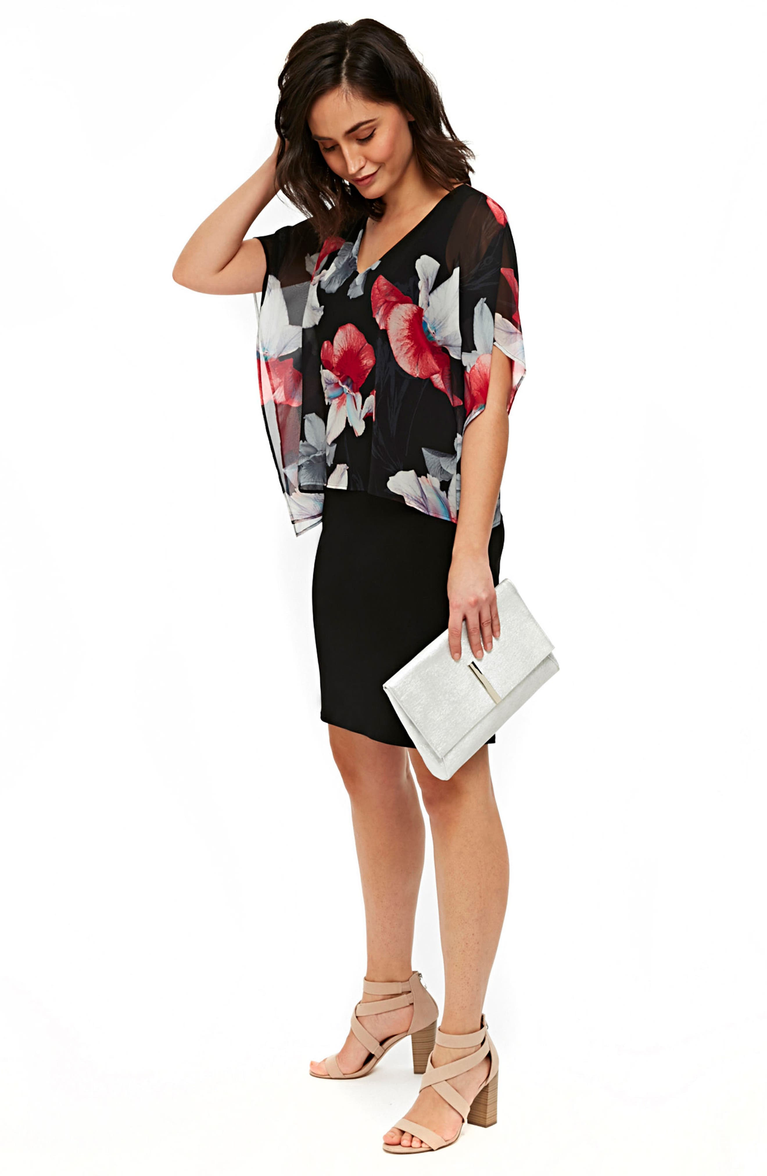 Orchid Overlay Dress by Wallis