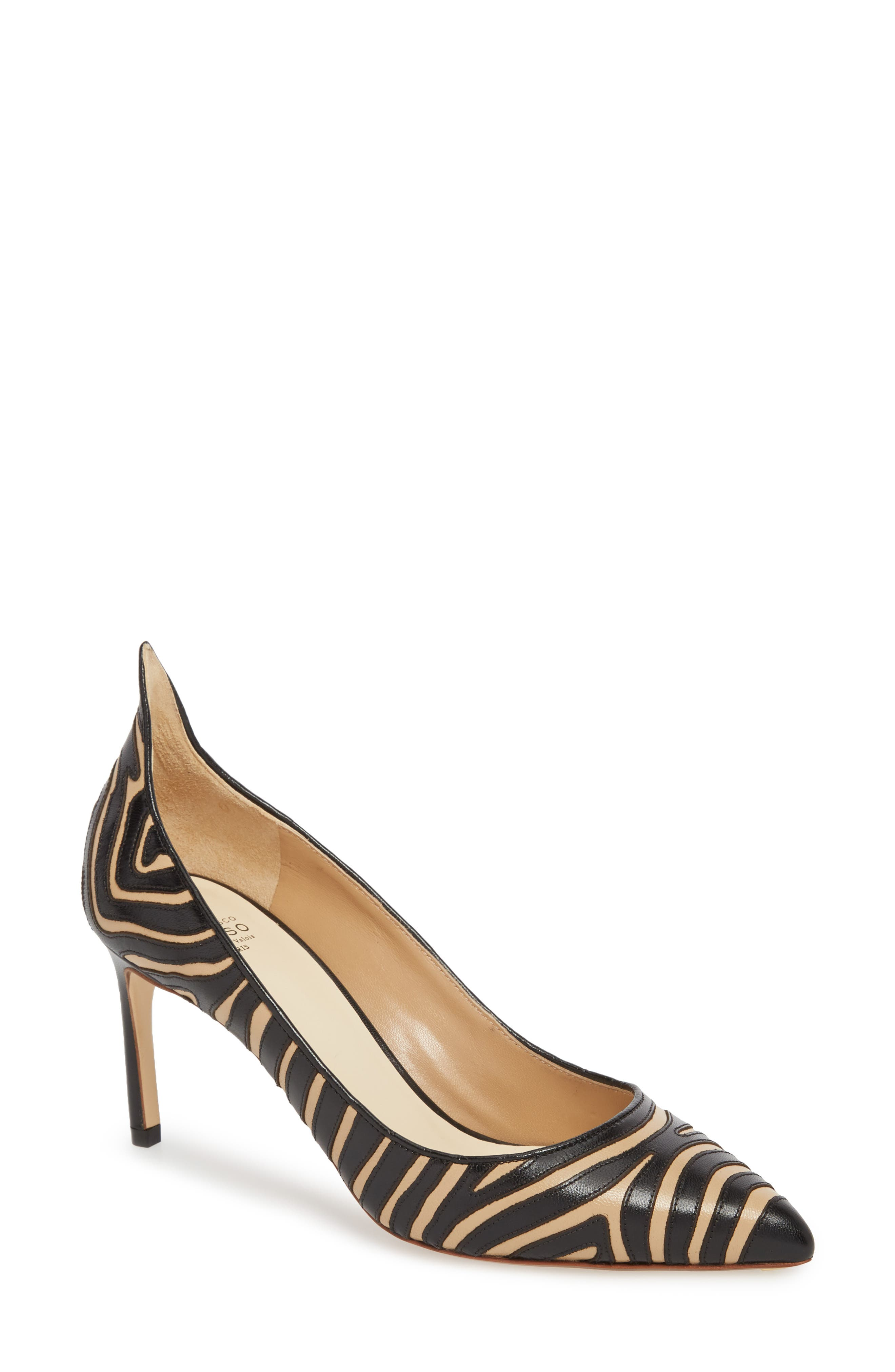 Francesco Russo Flame Pointy Toe Pump (Women)