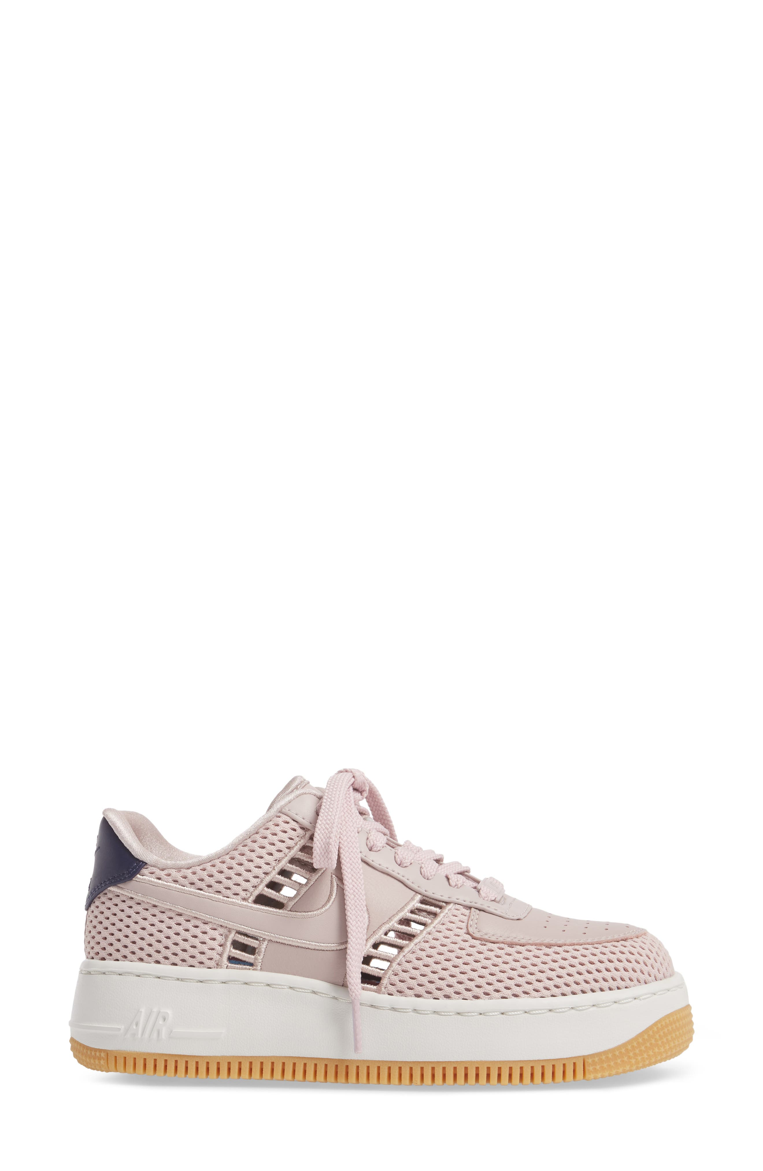 Air Force 1 Upstep SI Mesh Sneaker,                             Alternate thumbnail 3, color,                             Particle Rose/ Summit White
