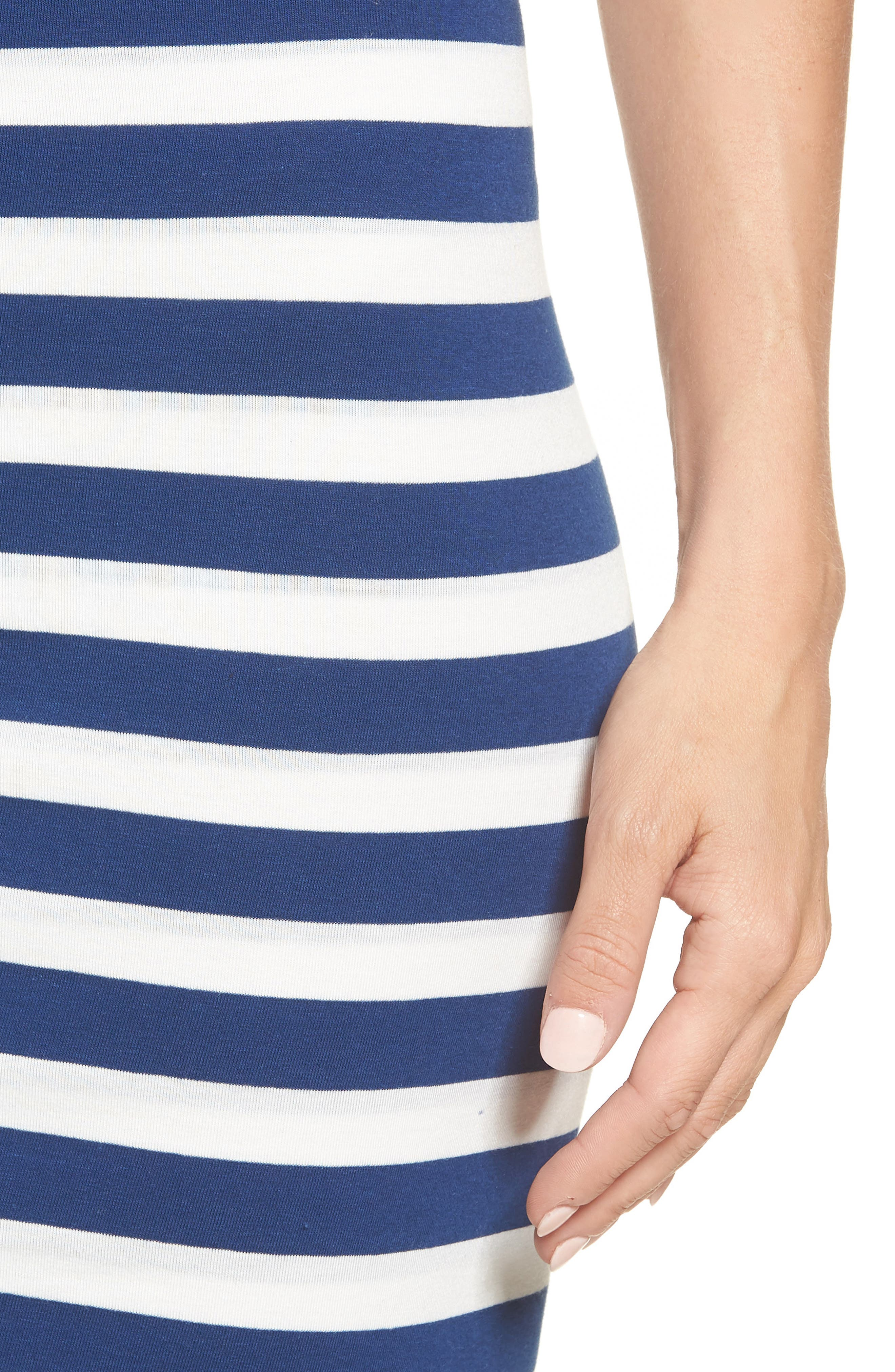 x Hi Sugarplum! Fornillo Pencil Skirt,                             Alternate thumbnail 5, color,                             Blue Stripe