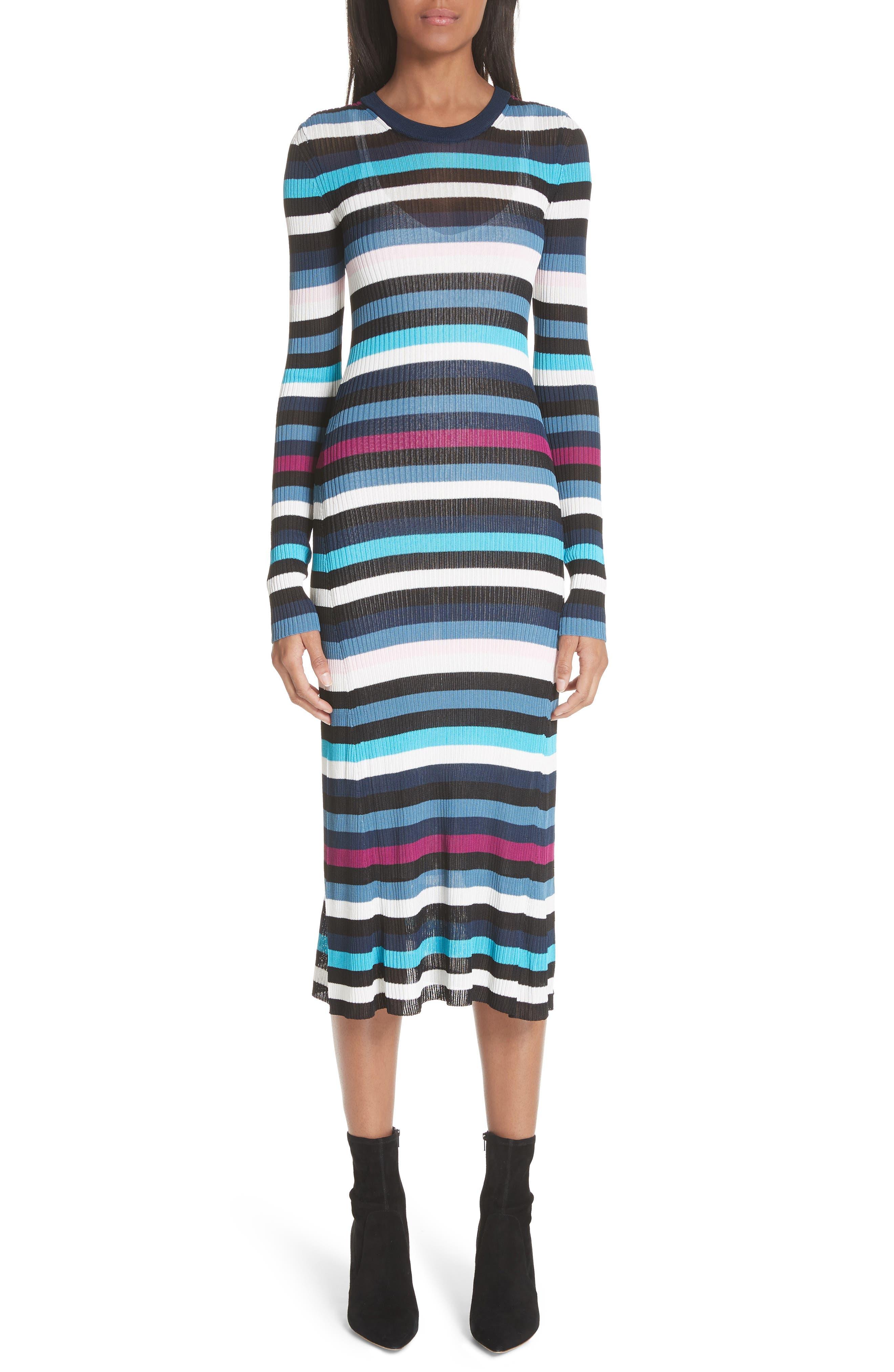 Stills Stripe Rib Knit Dress by Altuzarra
