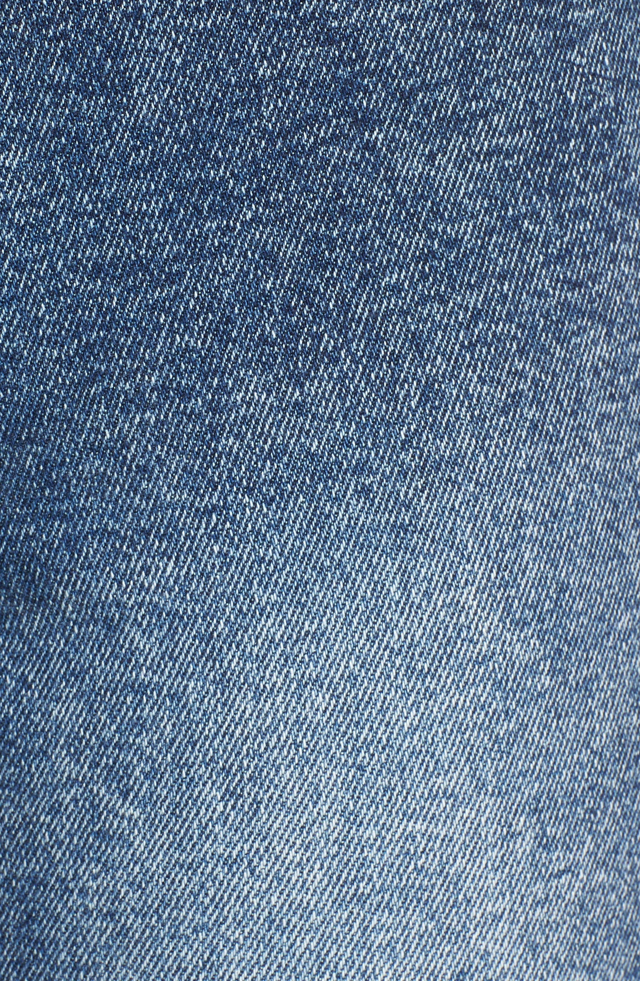 Acid Wash High Waist Crop Jeans,                             Alternate thumbnail 3, color,                             Dark Acid