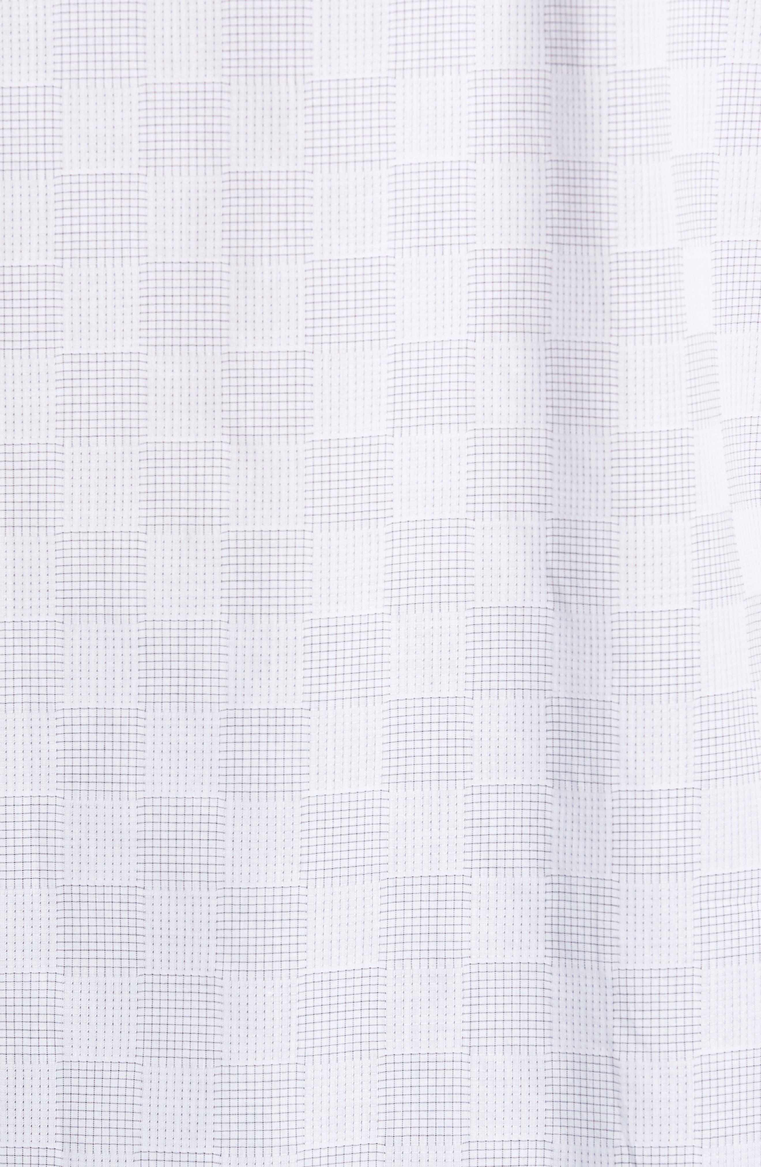 Classic Fit Checkerboard Print Sport Shirt,                             Alternate thumbnail 5, color,                             Platinum