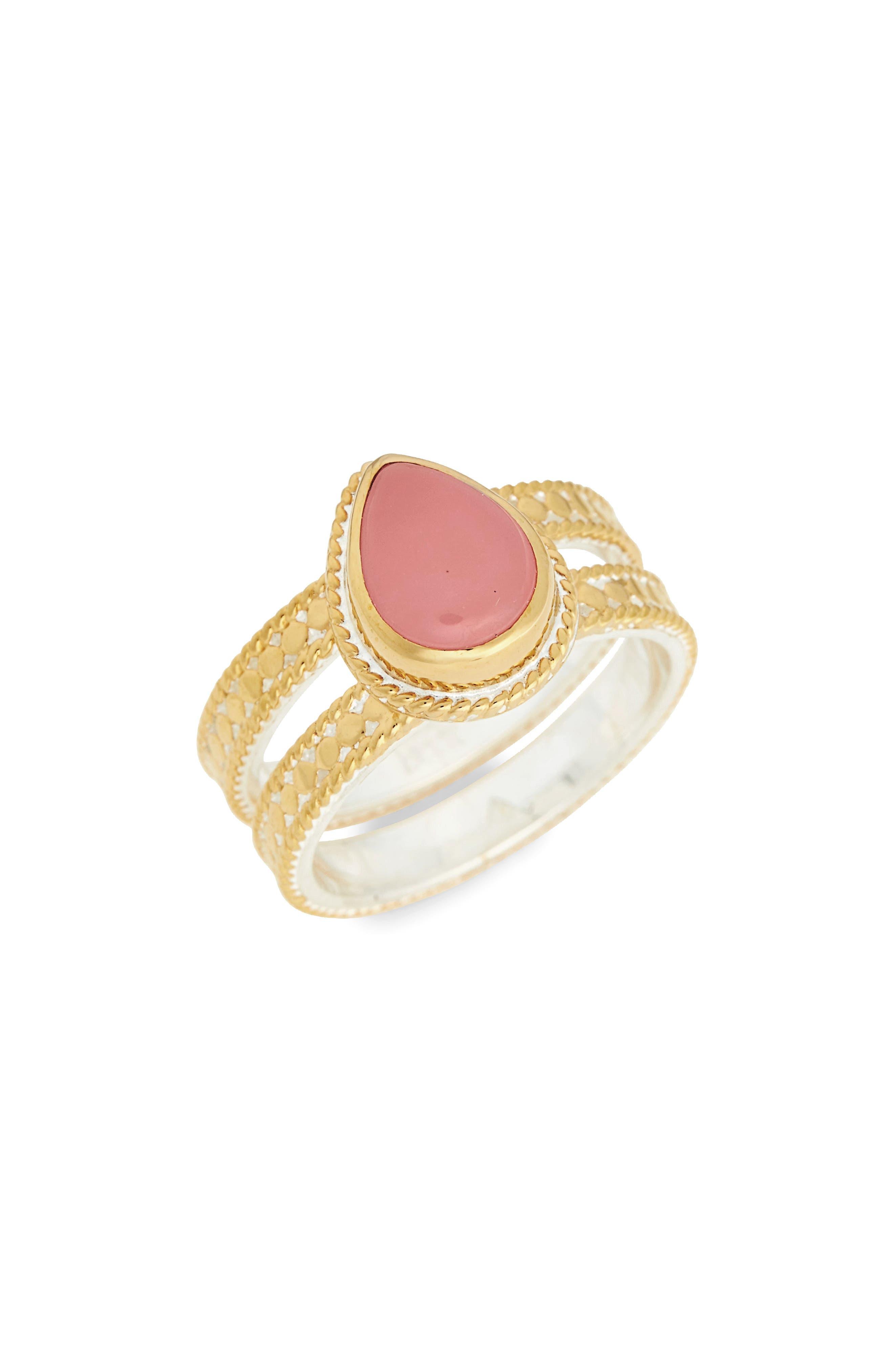 Anna Beck Guava Quartz Double Band Ring