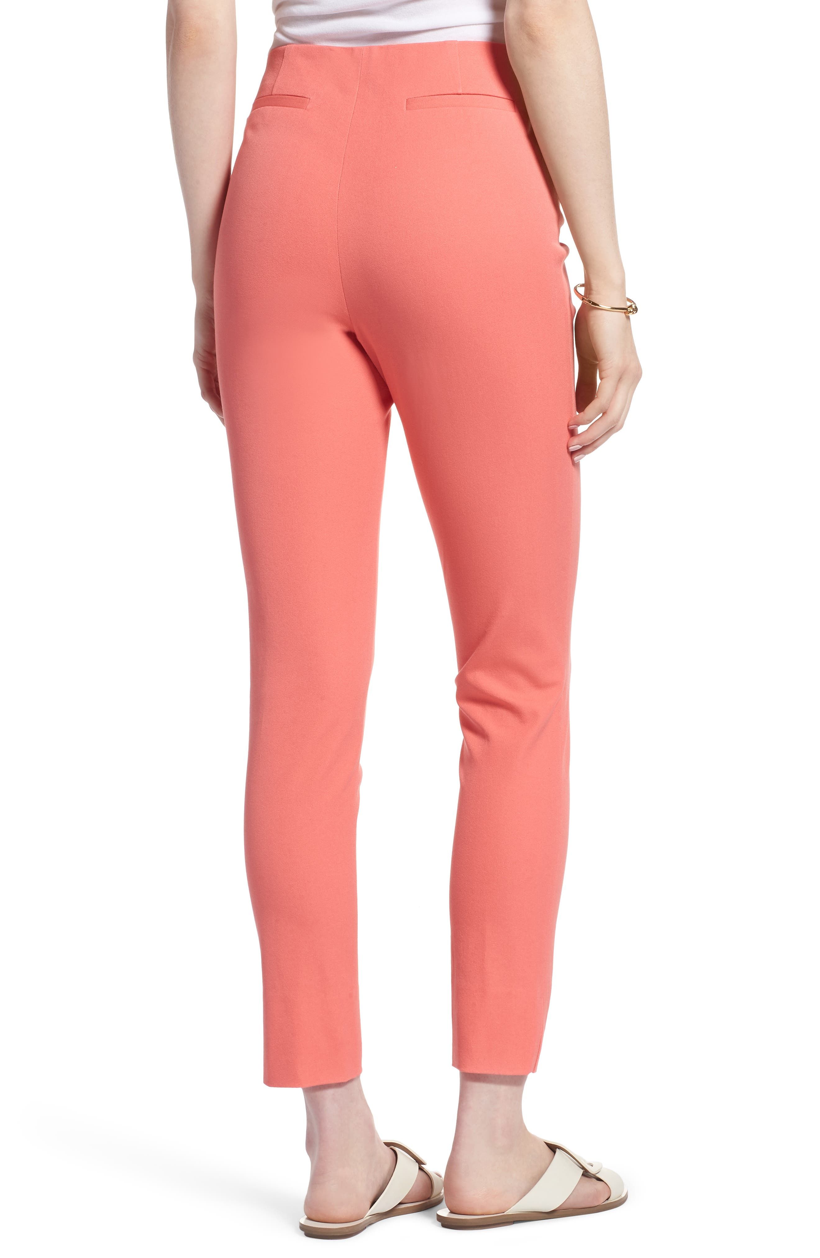 Skinny Stretch Pants,                             Alternate thumbnail 2, color,                             Coral Sugar