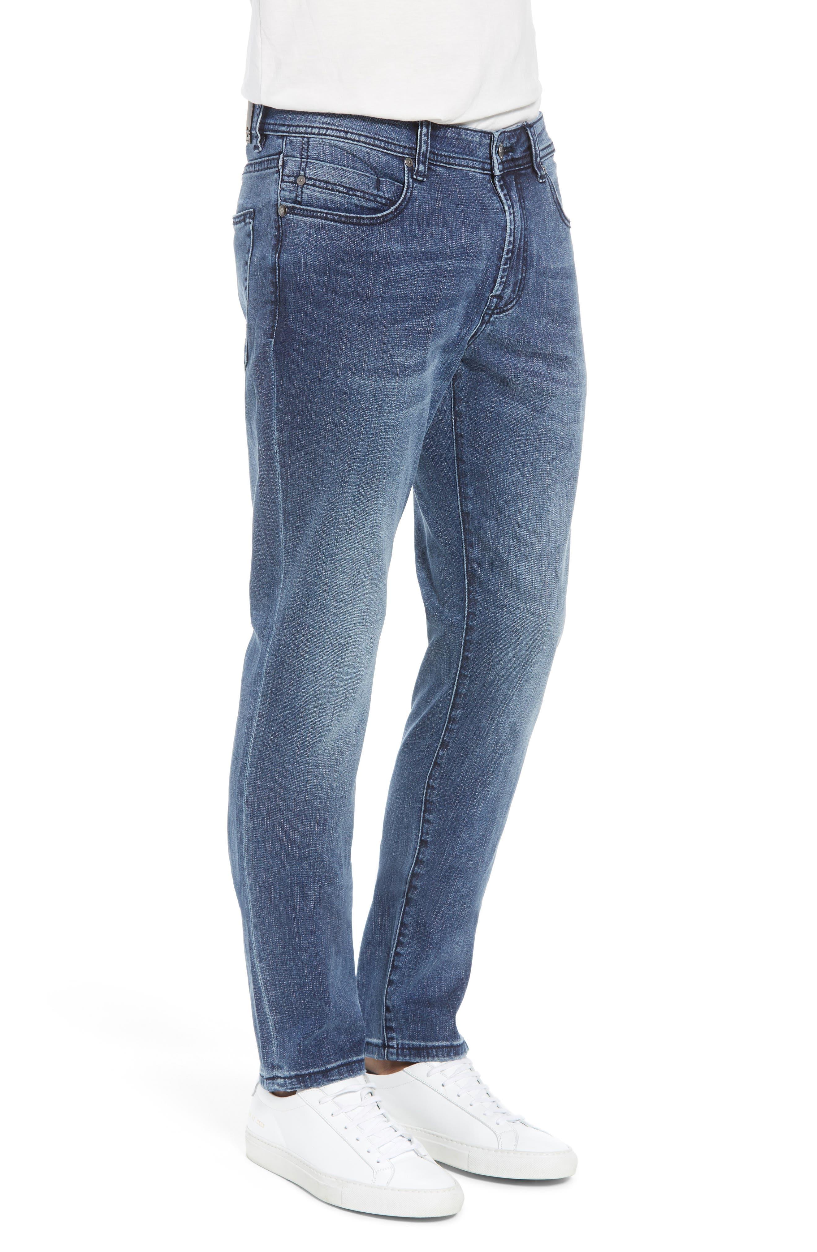 Jeans Co. Slim Straight Leg Jeans,                             Alternate thumbnail 3, color,                             Southaven Mid Blue