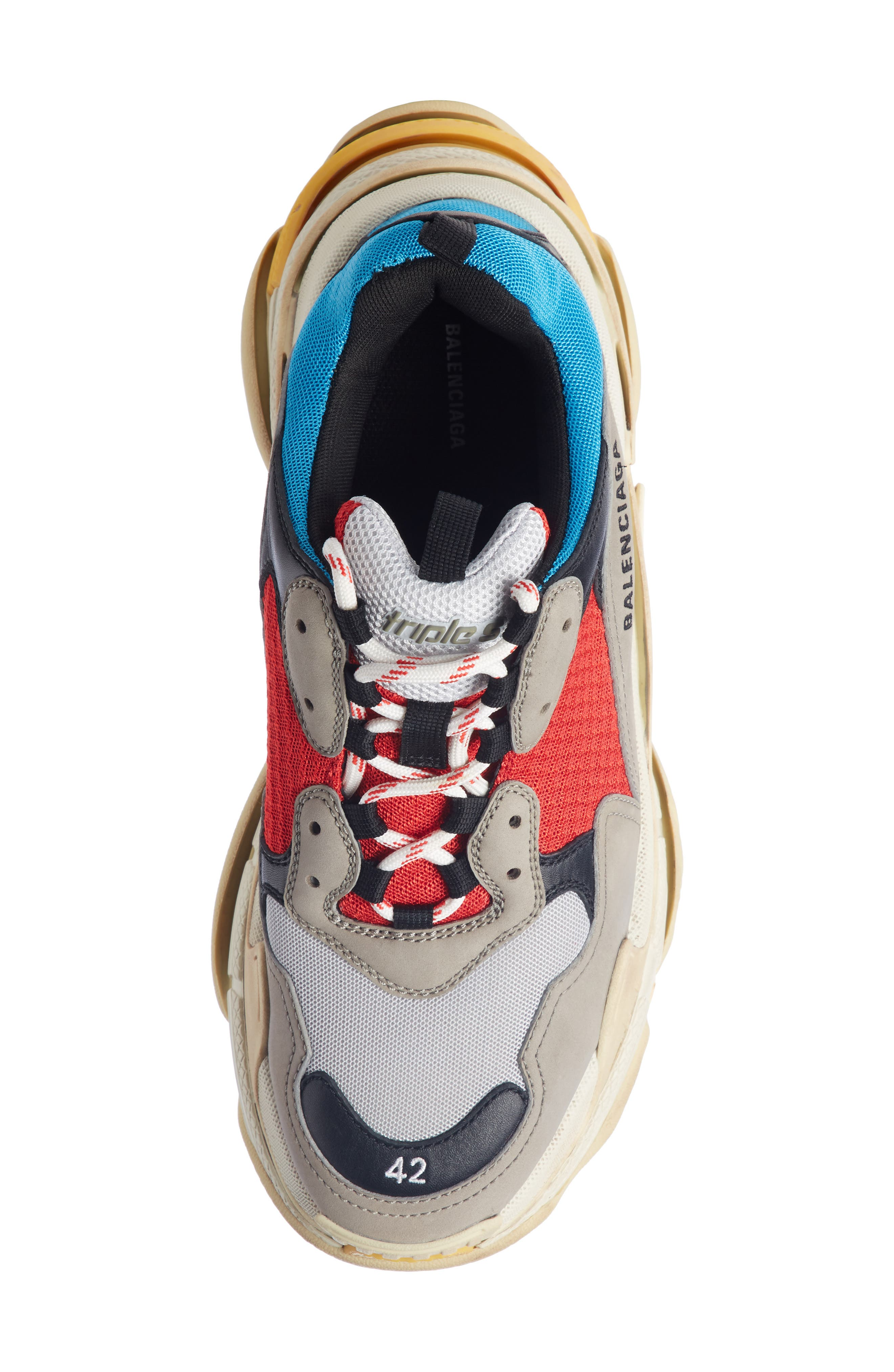 Triple S Retro Sneaker,                             Alternate thumbnail 4, color,                             Beige