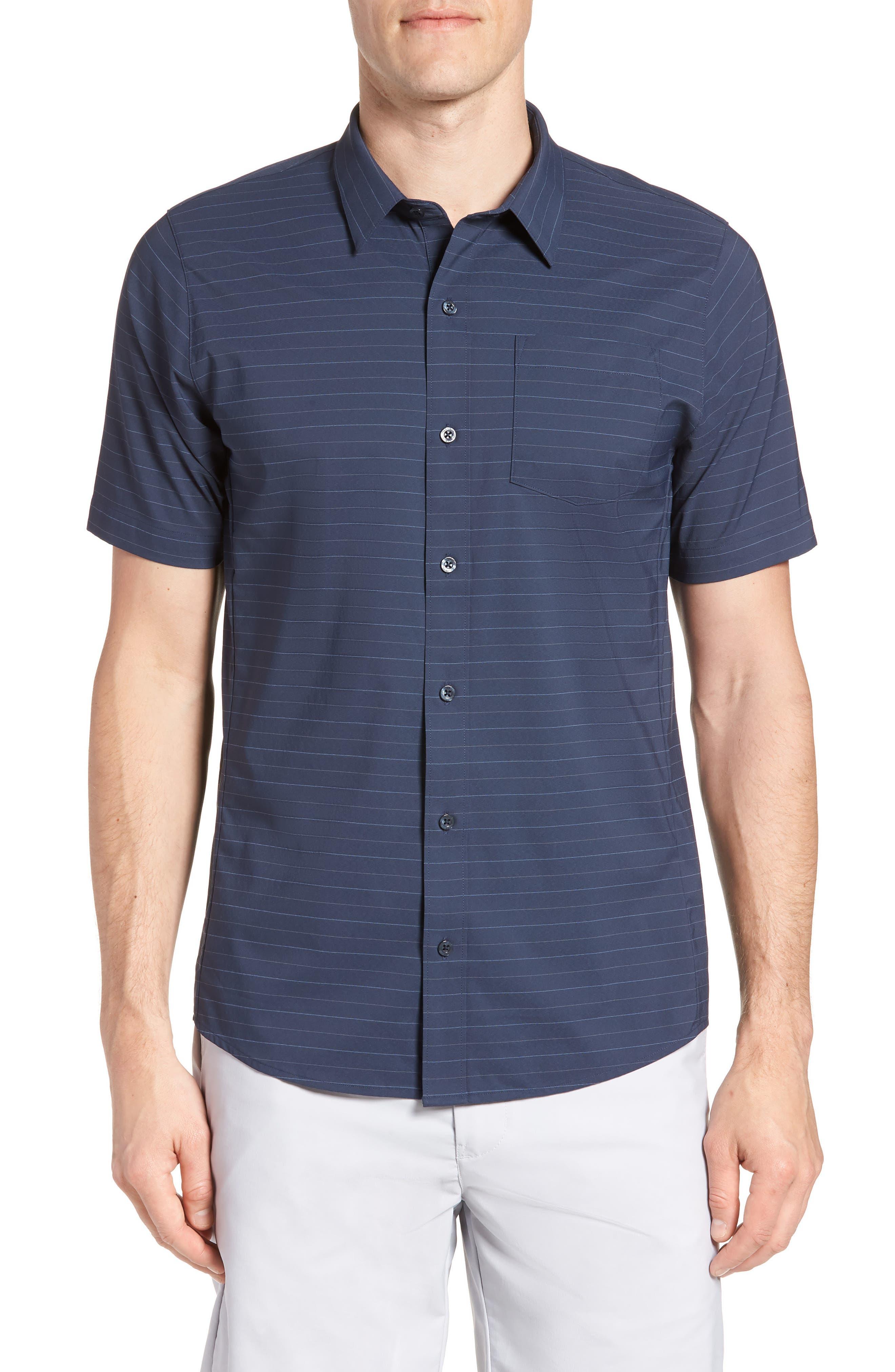 Vagabond Regular Fit Sport Shirt,                         Main,                         color, Heather Blue Nights