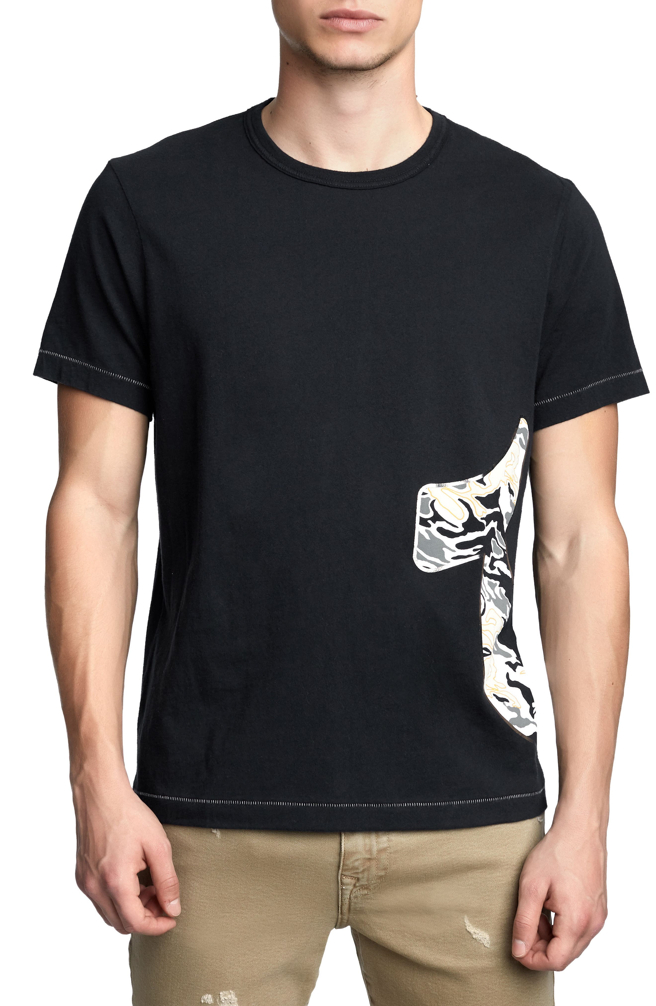 Pop Camo Logo T-Shirt,                             Main thumbnail 1, color,                             True Black