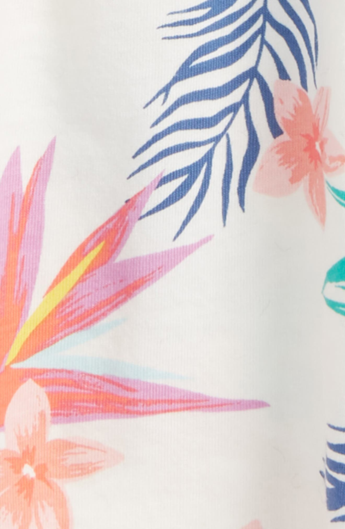 Trapeze Dress,                             Alternate thumbnail 2, color,                             Hawaiian Florals