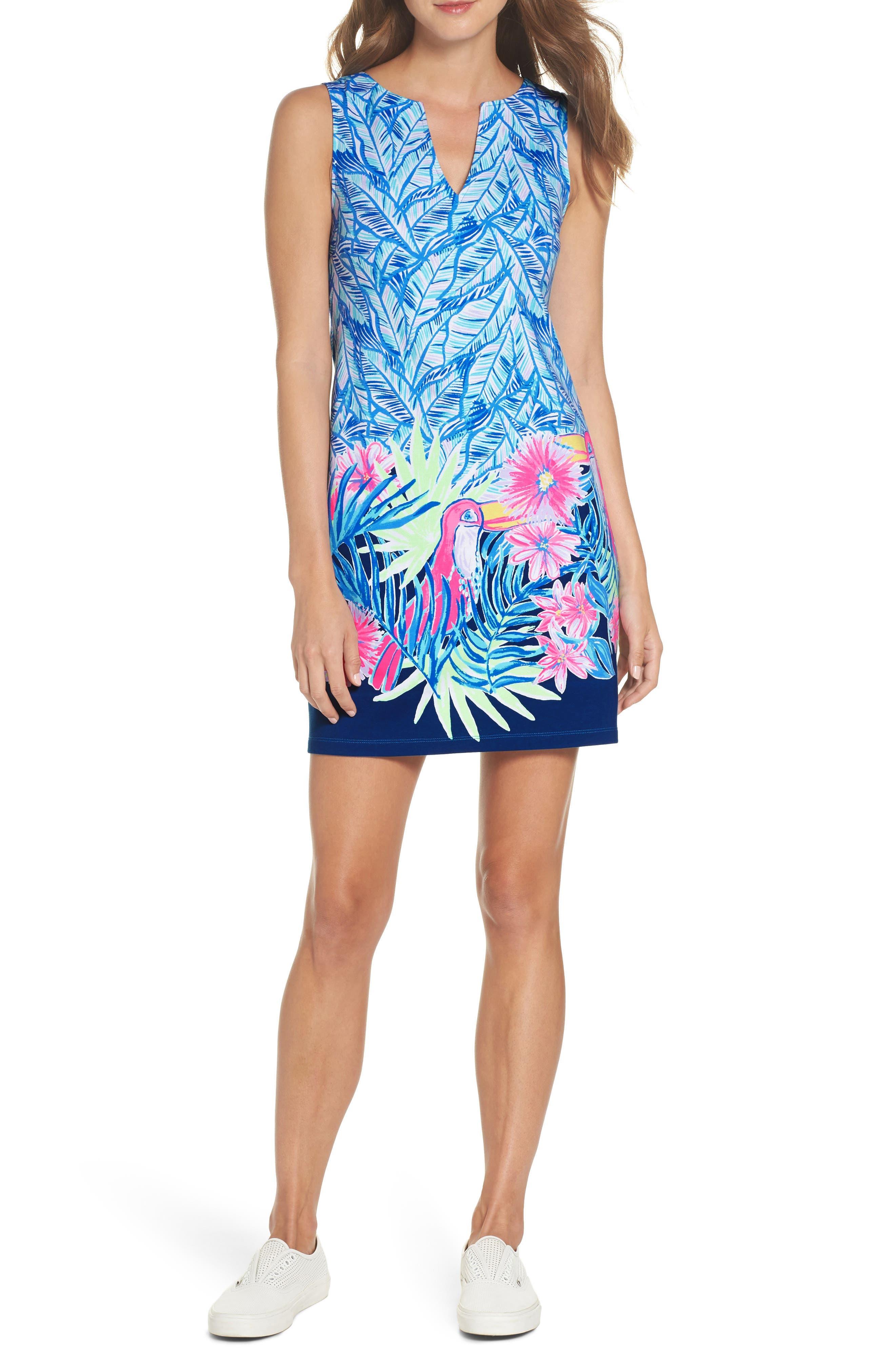 Harper Sleeveless Dress,                             Main thumbnail 1, color,                             Bennet Blue Lets Mango