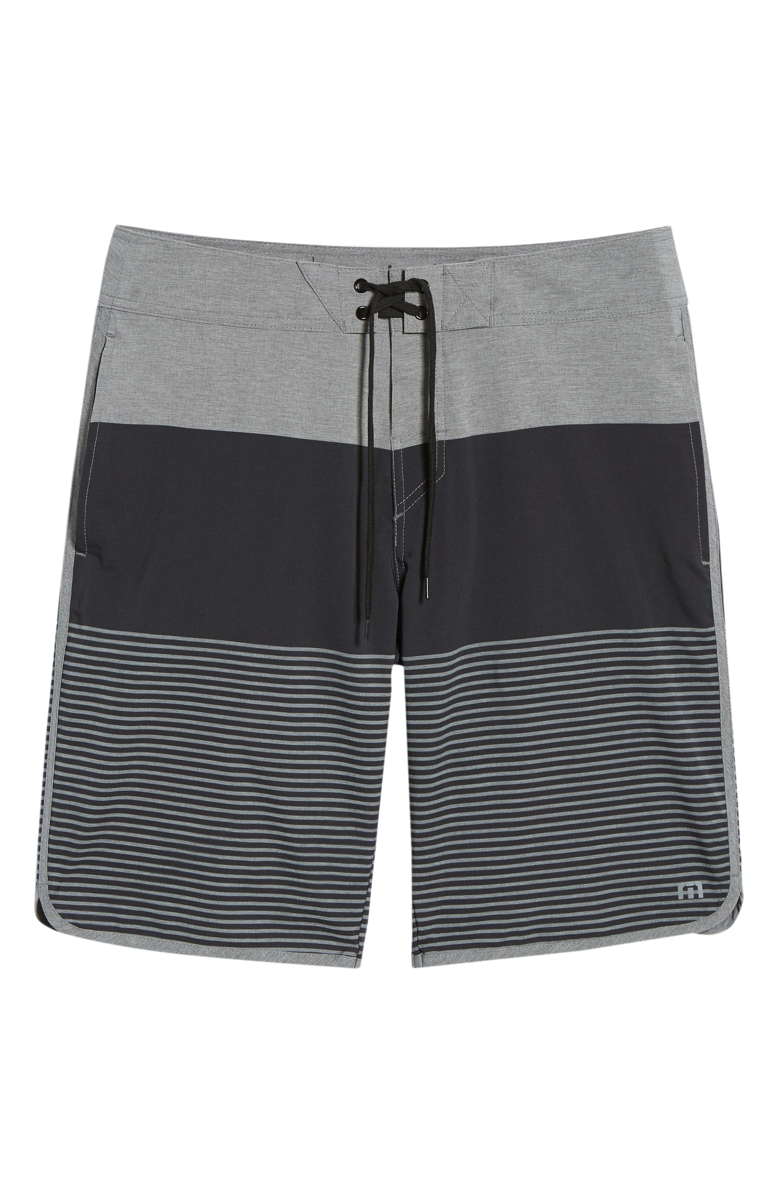 Claim It Regular Fit Board Shorts,                             Alternate thumbnail 6, color,                             Heather Black