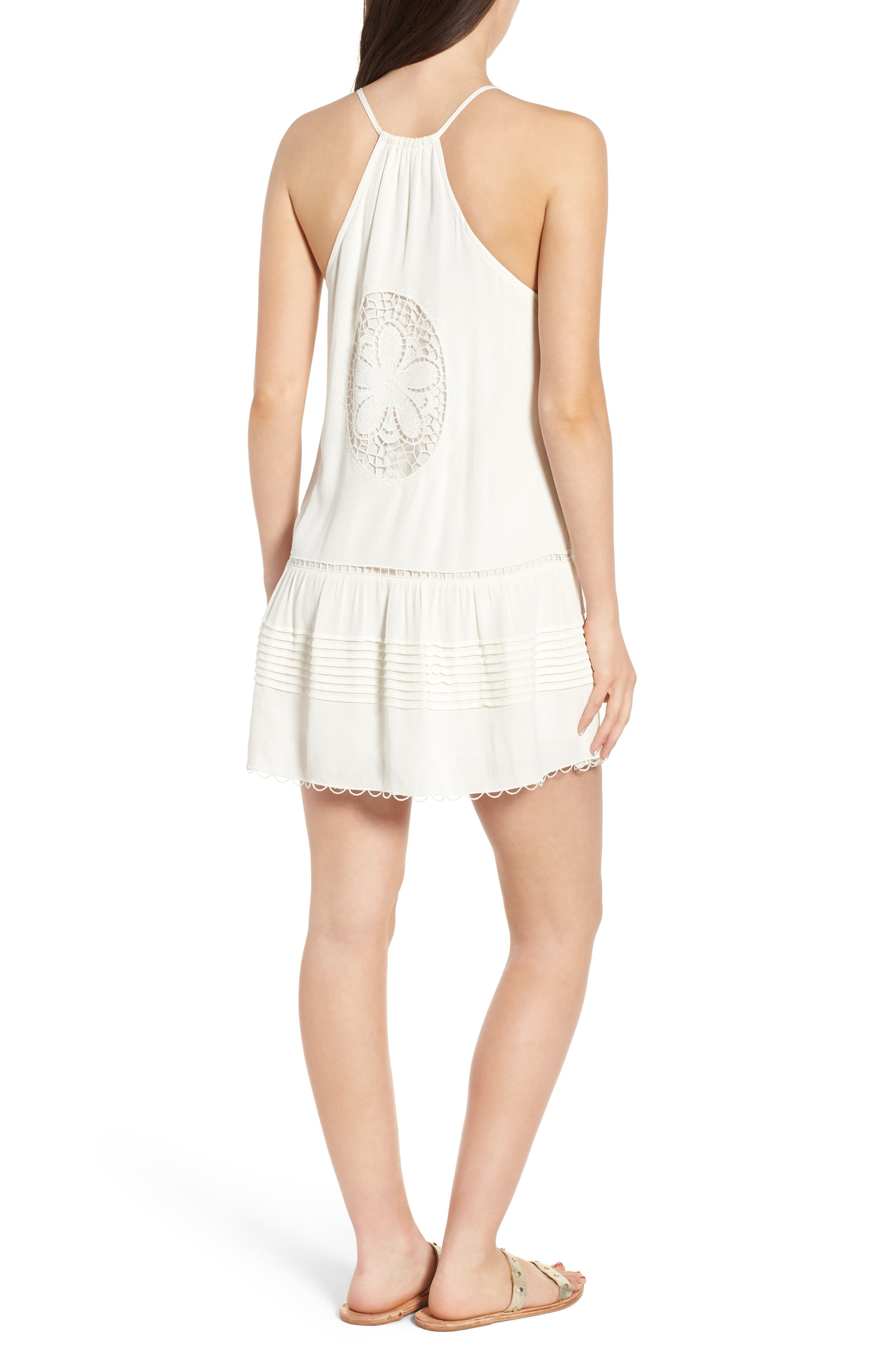Sincerely Embroidered Minidress,                             Alternate thumbnail 2, color,                             Ivory