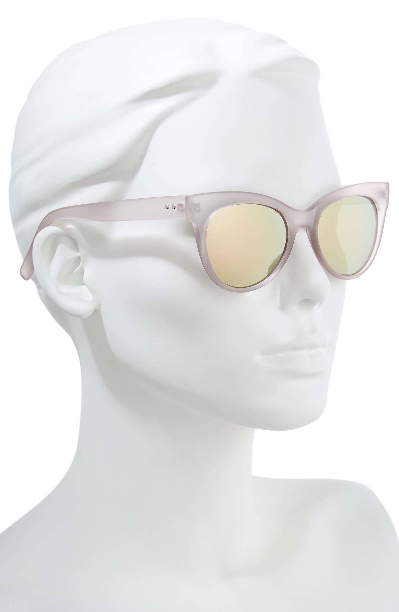 56mm Cat Eye Sunglasses,                             Alternate thumbnail 2, color,                             Milky Pink/ Pink