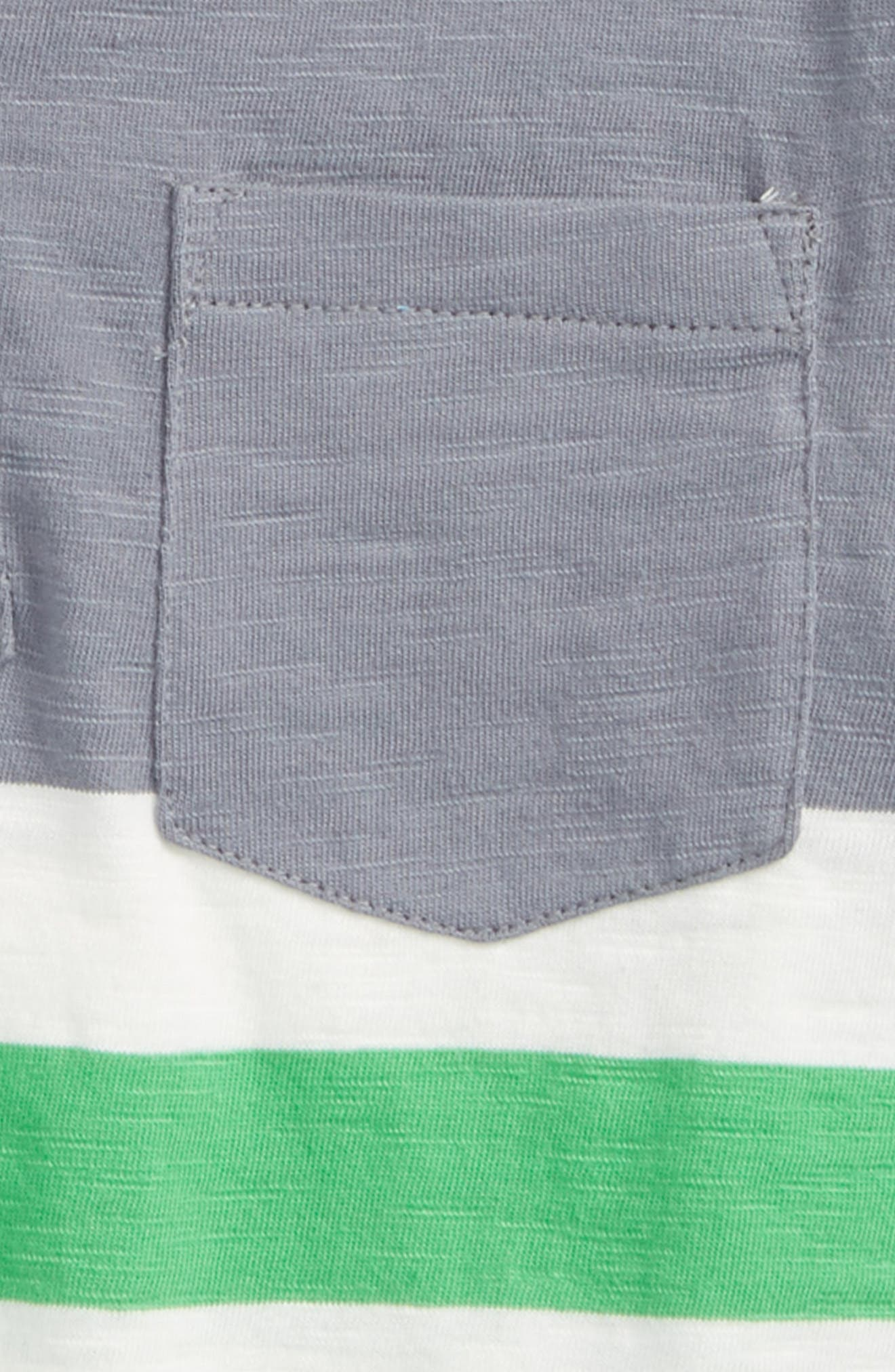 Stripe Polo,                             Alternate thumbnail 2, color,                             Raft Grey/ Toucan Green