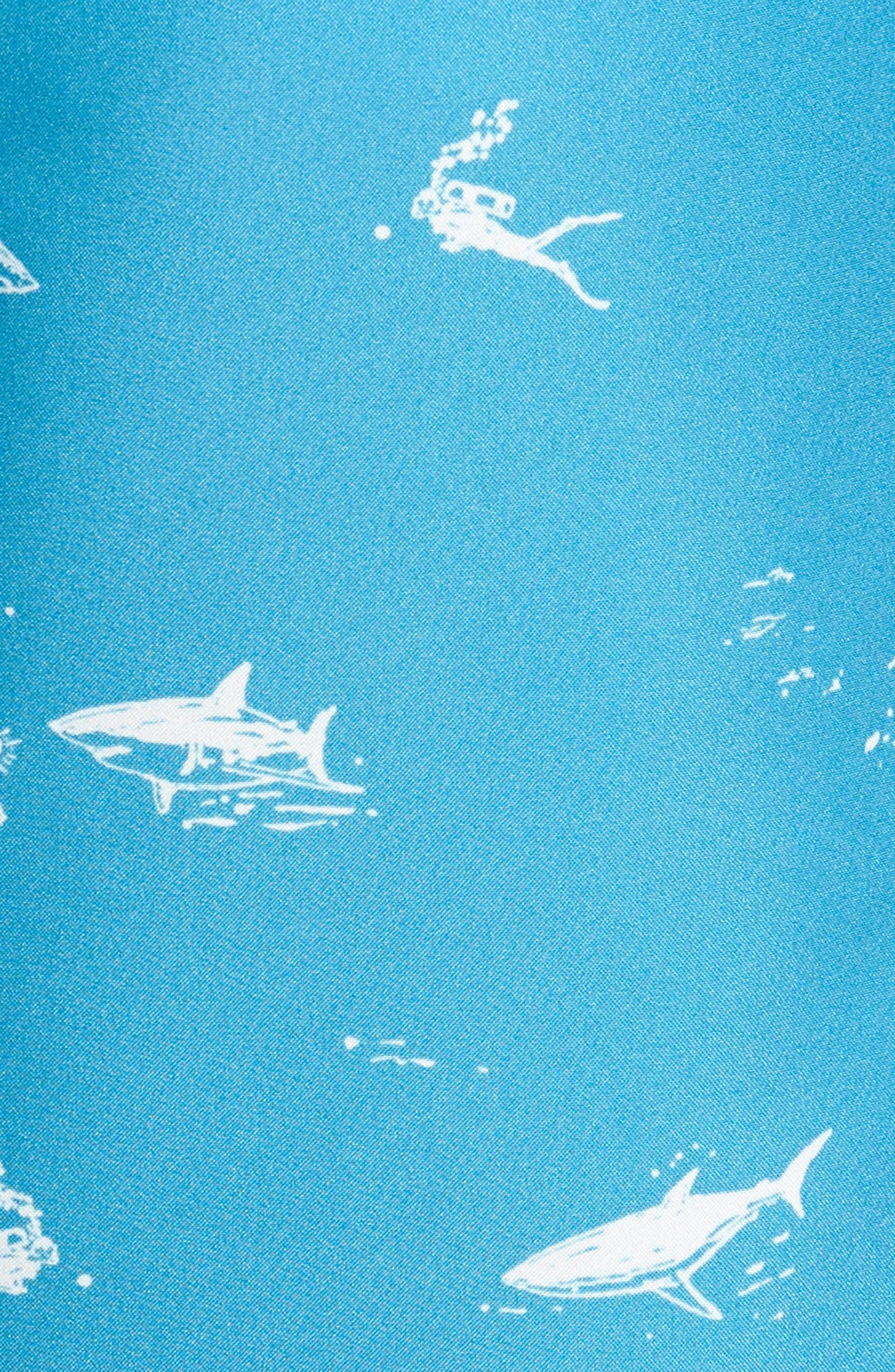 Banzai 9-Inch Swim Trunks,                             Alternate thumbnail 5, color,                             Scuba Dive Print