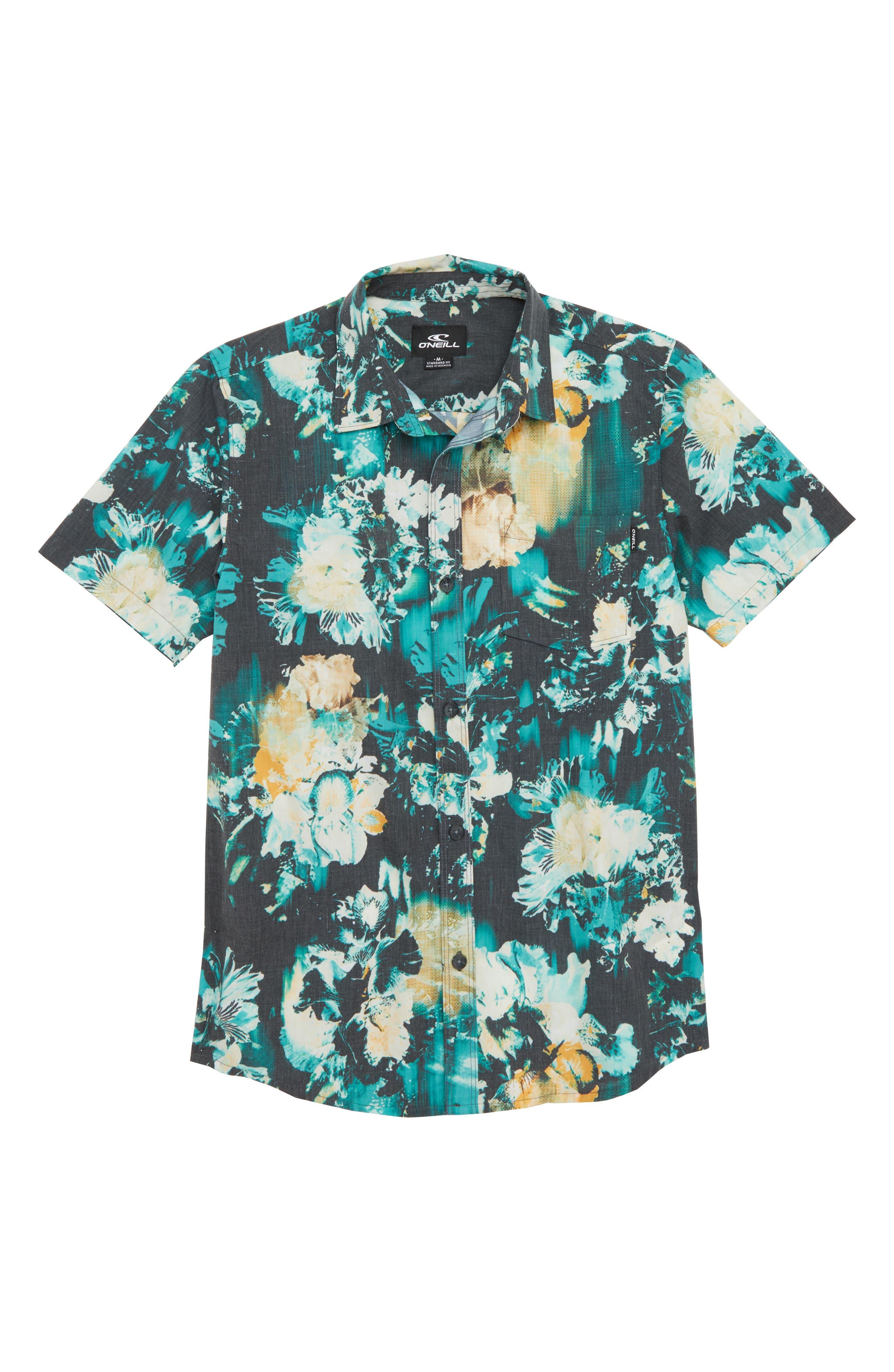 Perennial Woven Shirt,                             Main thumbnail 1, color,                             Black