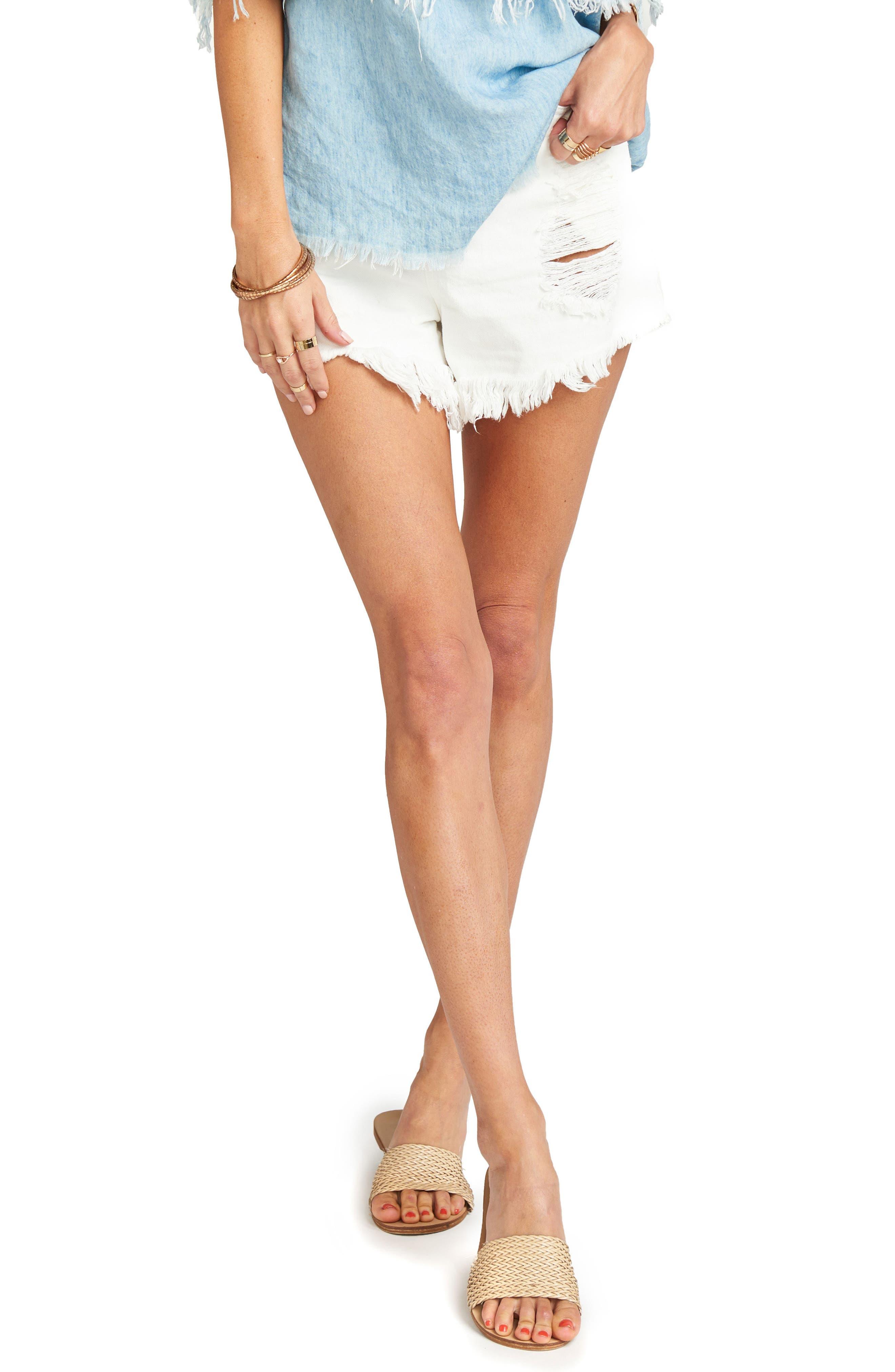 Wyoming High Waist Shorts,                         Main,                         color, Coco Colada