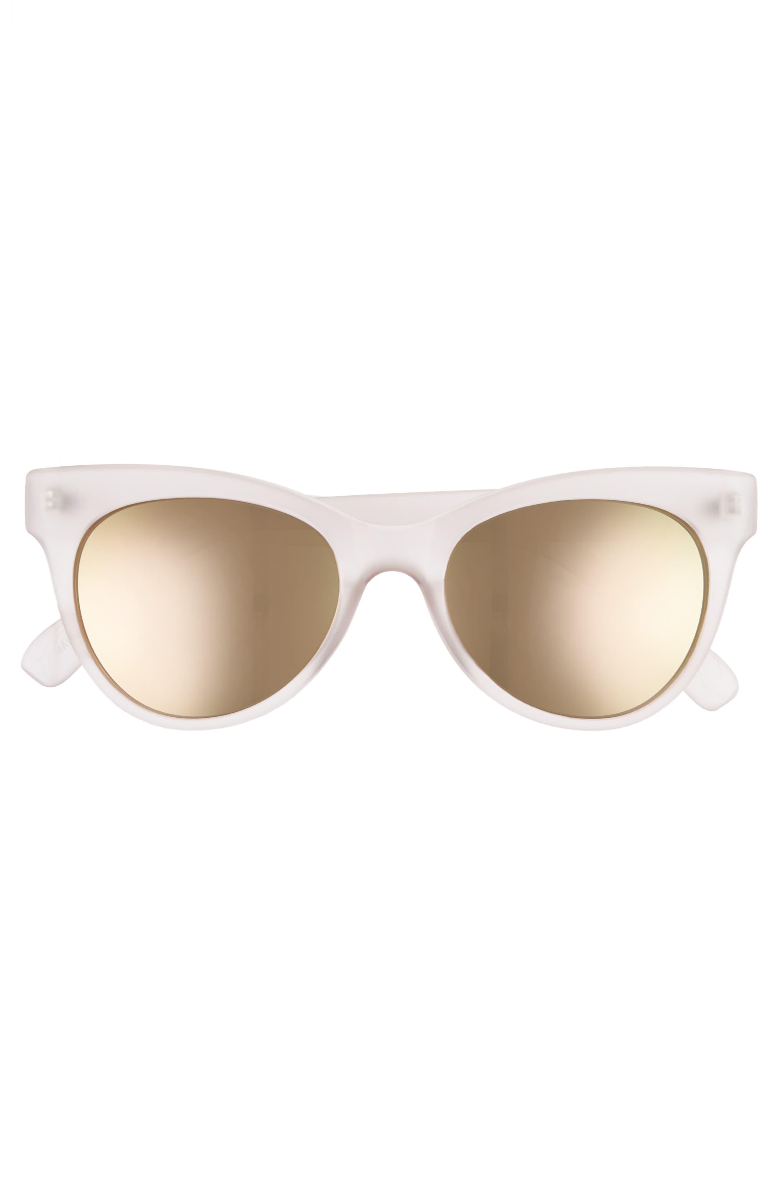 56mm Cat Eye Sunglasses,                             Alternate thumbnail 3, color,                             Milky Pink/ Pink