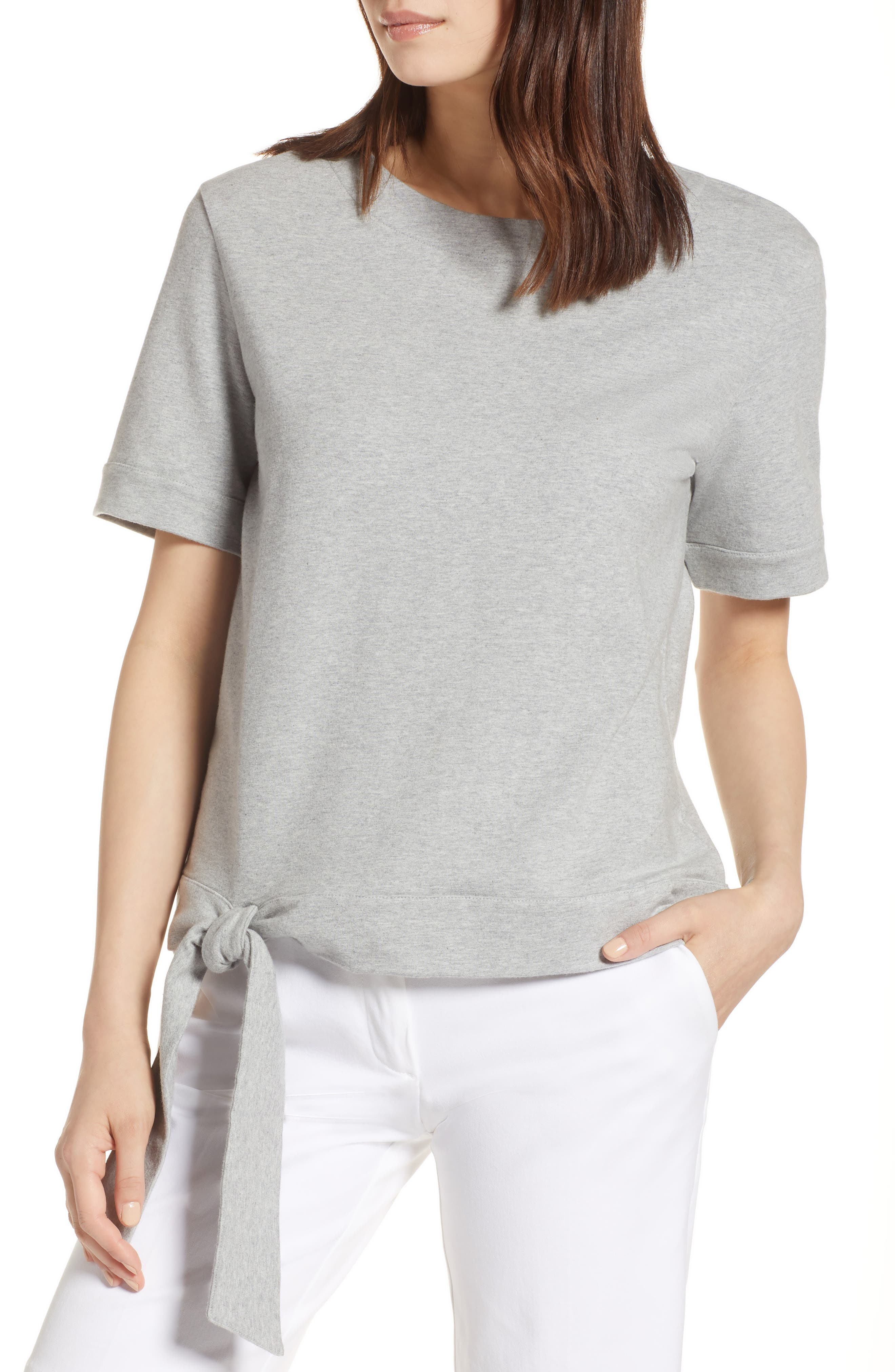Halogen® Side Tie Knit Top (Regular & Petite)